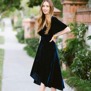 how to wear a velvet dress this Fall