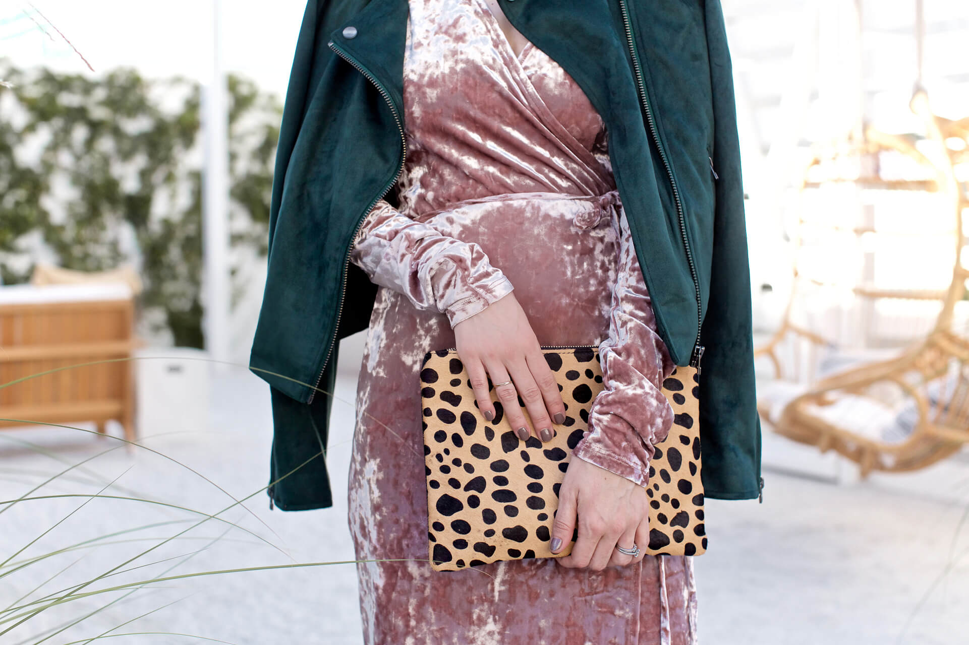 A leopard clutch piece is the perfect accessory