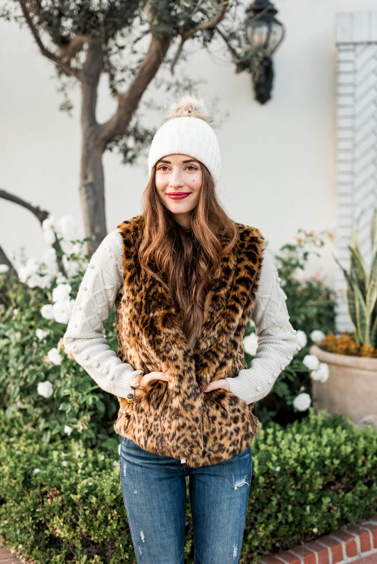 I'm loving this little pom beanie and it's under $50!