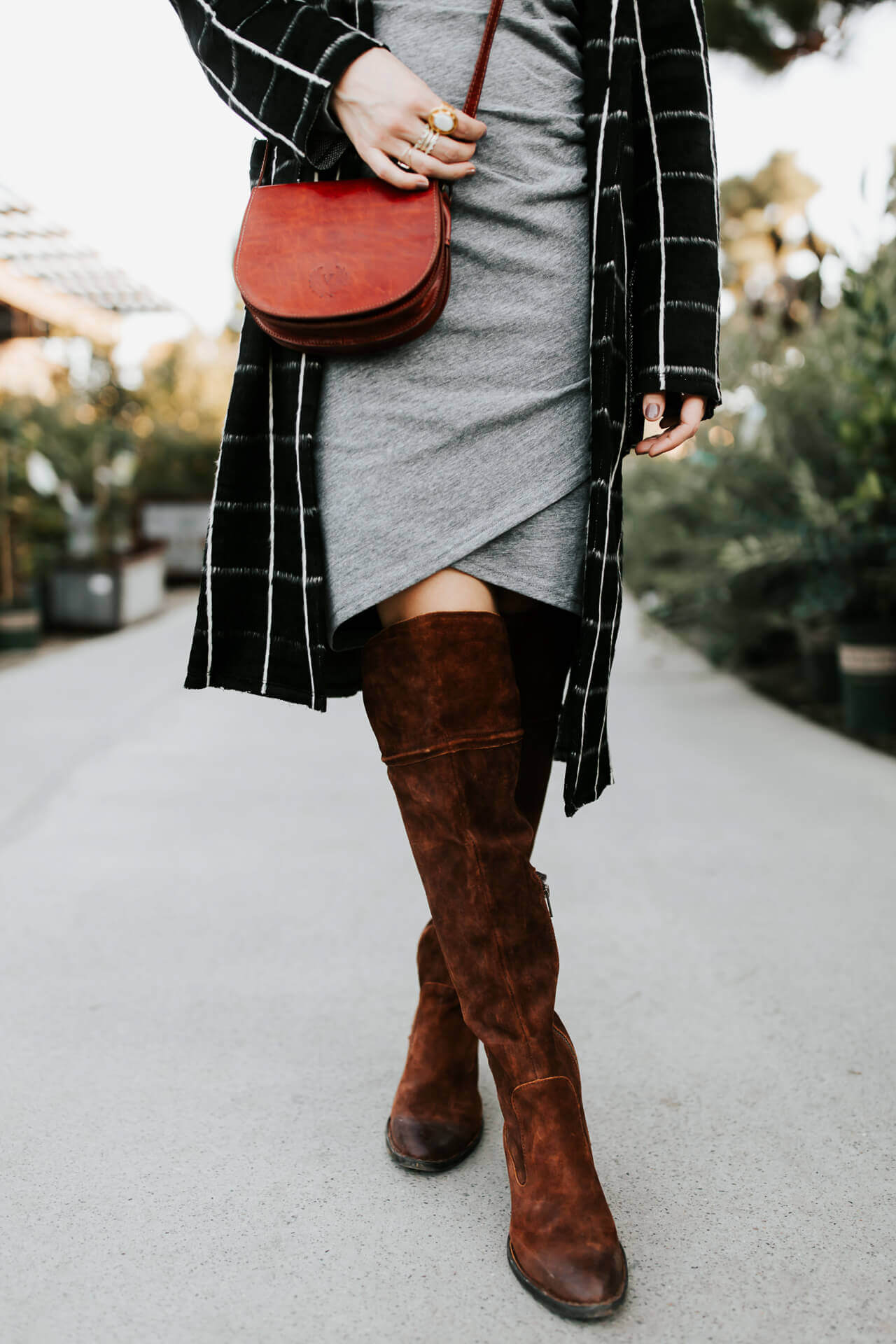 love these over the knee boots with dresses like this one - M Loves M @marmar