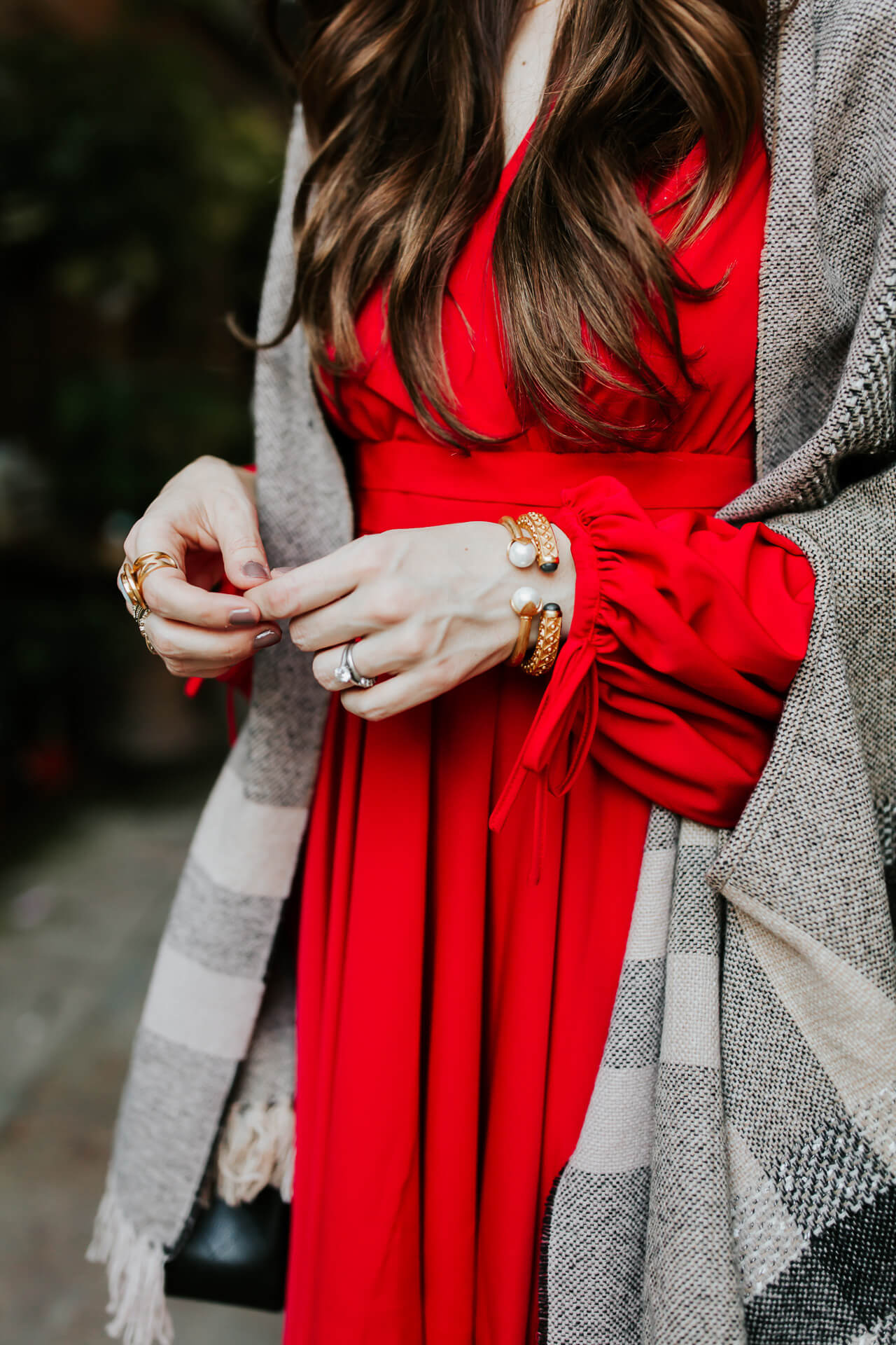 a stunning bright red dress for the fall and upcoming holidays