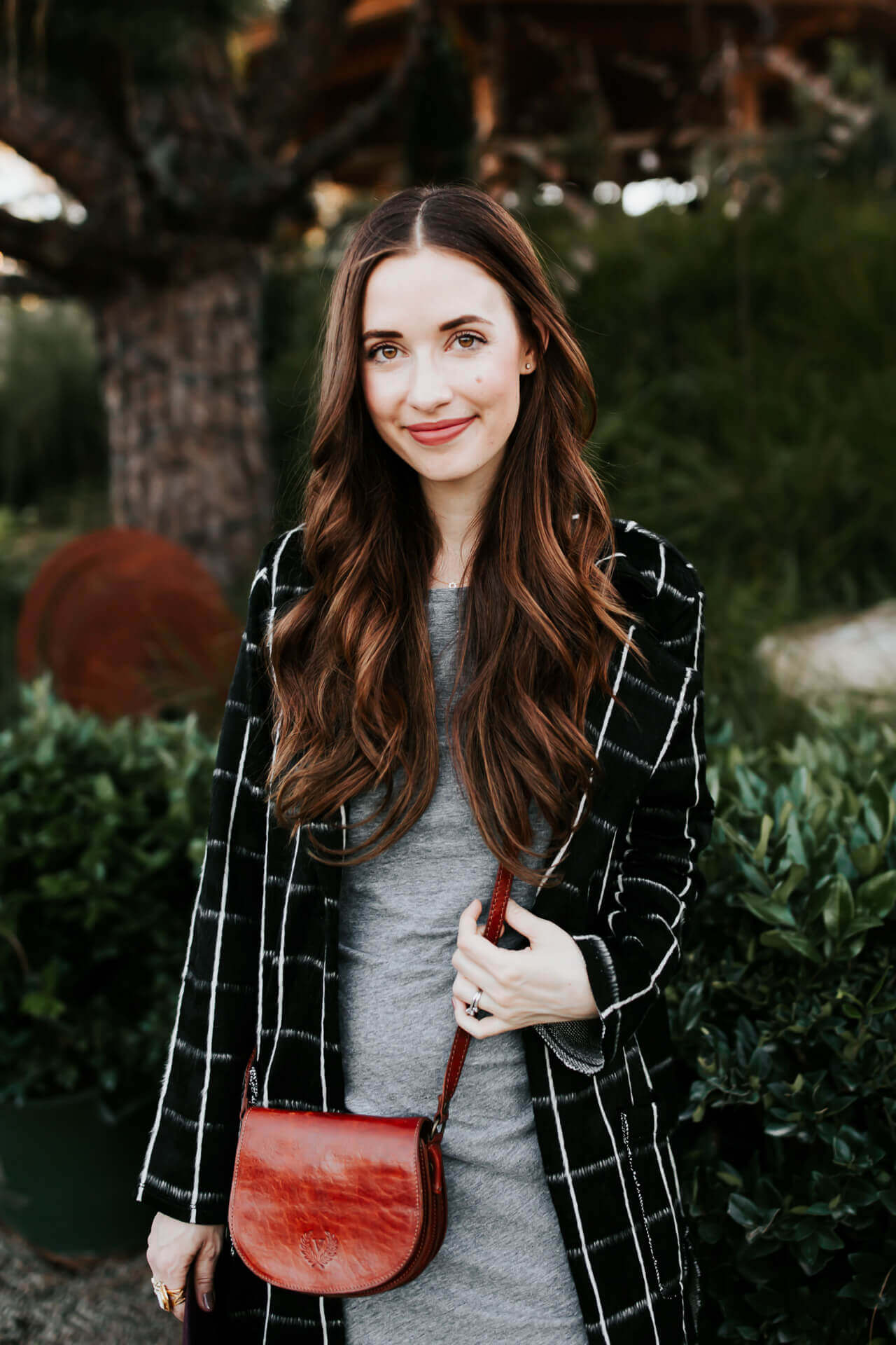 love how comfy this plaid coat is and perfect for SoCal weather - M Loves M @marmar