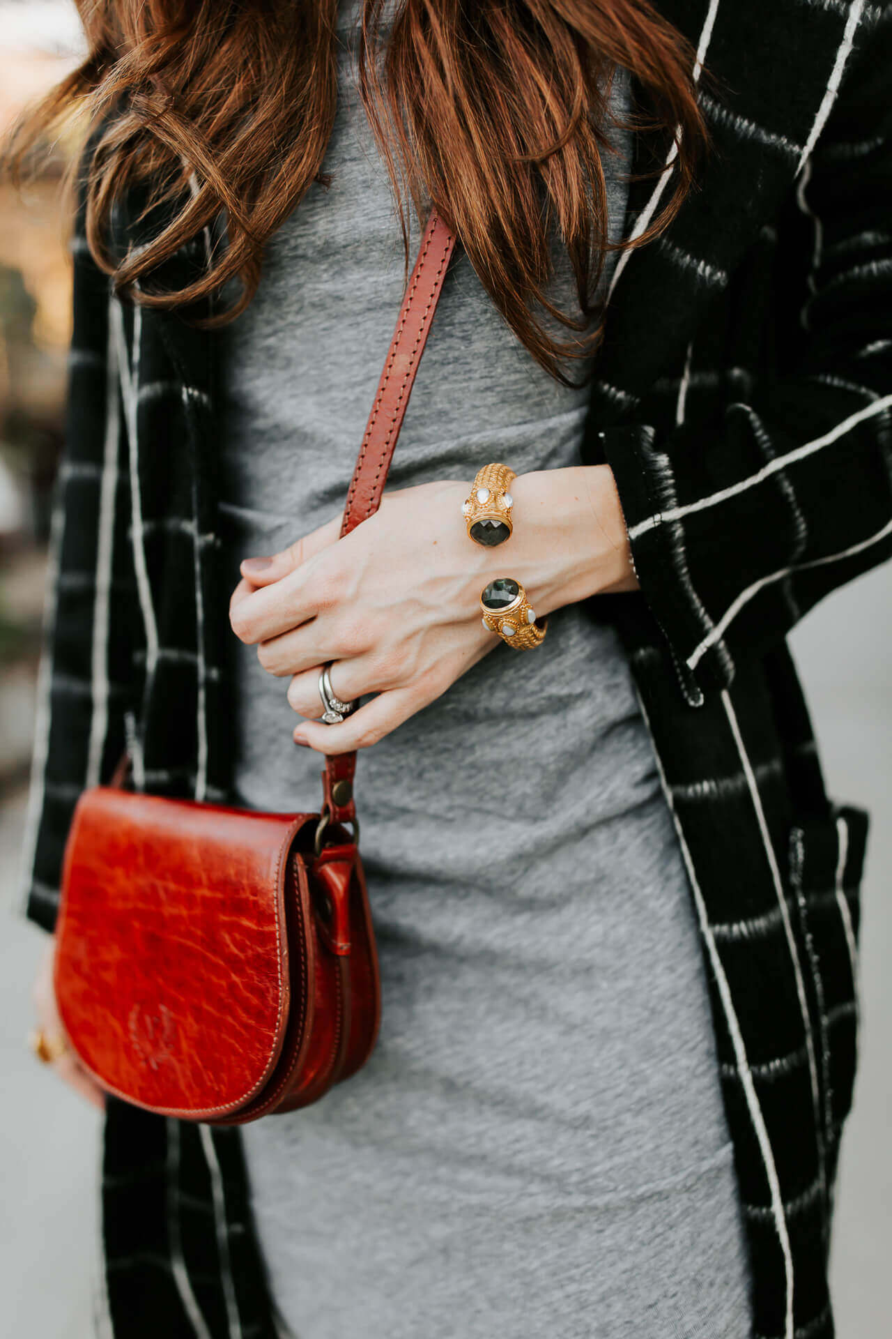 love this reddish brown leather crossbody bag
