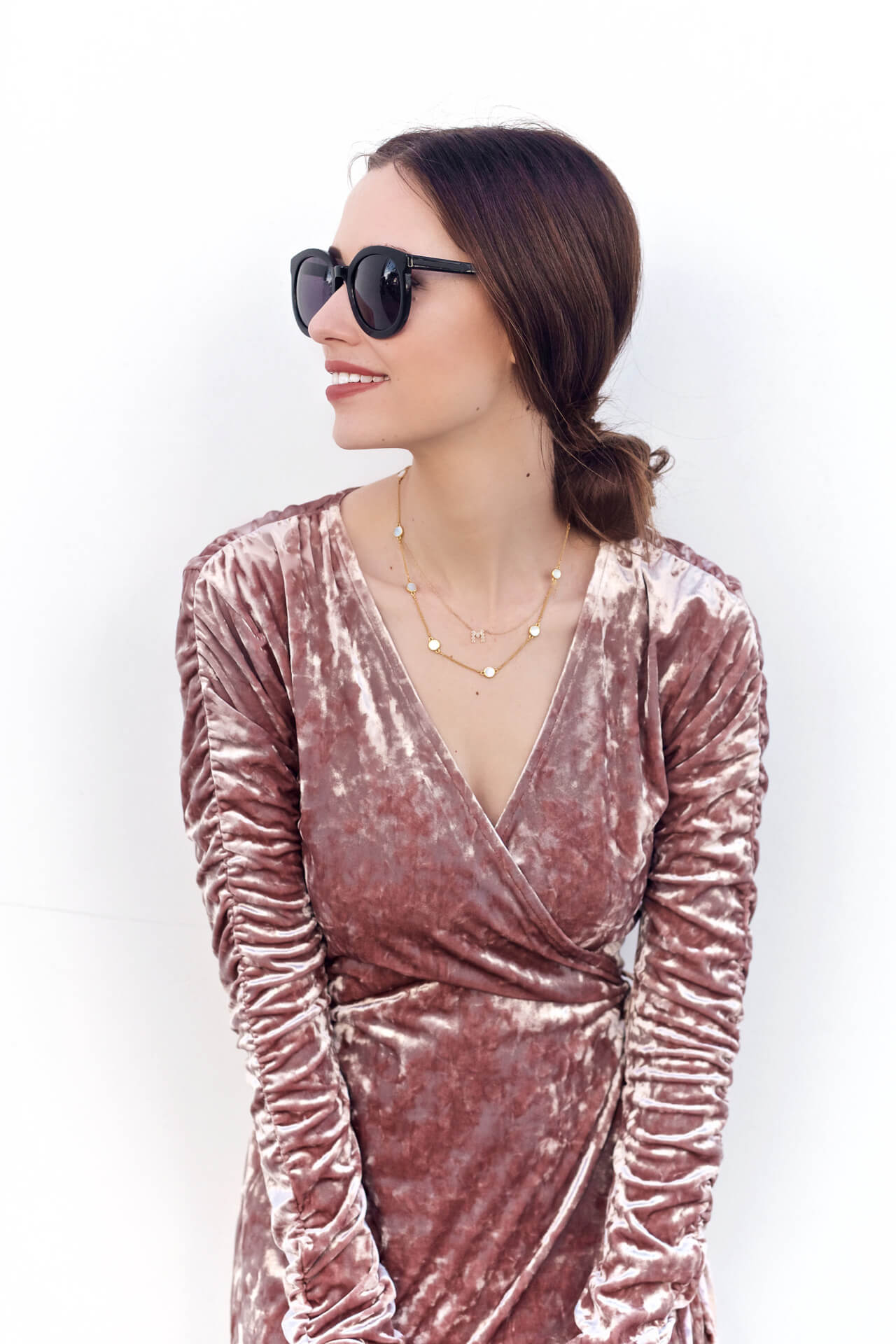 loving this millennial pink color especially in velvet