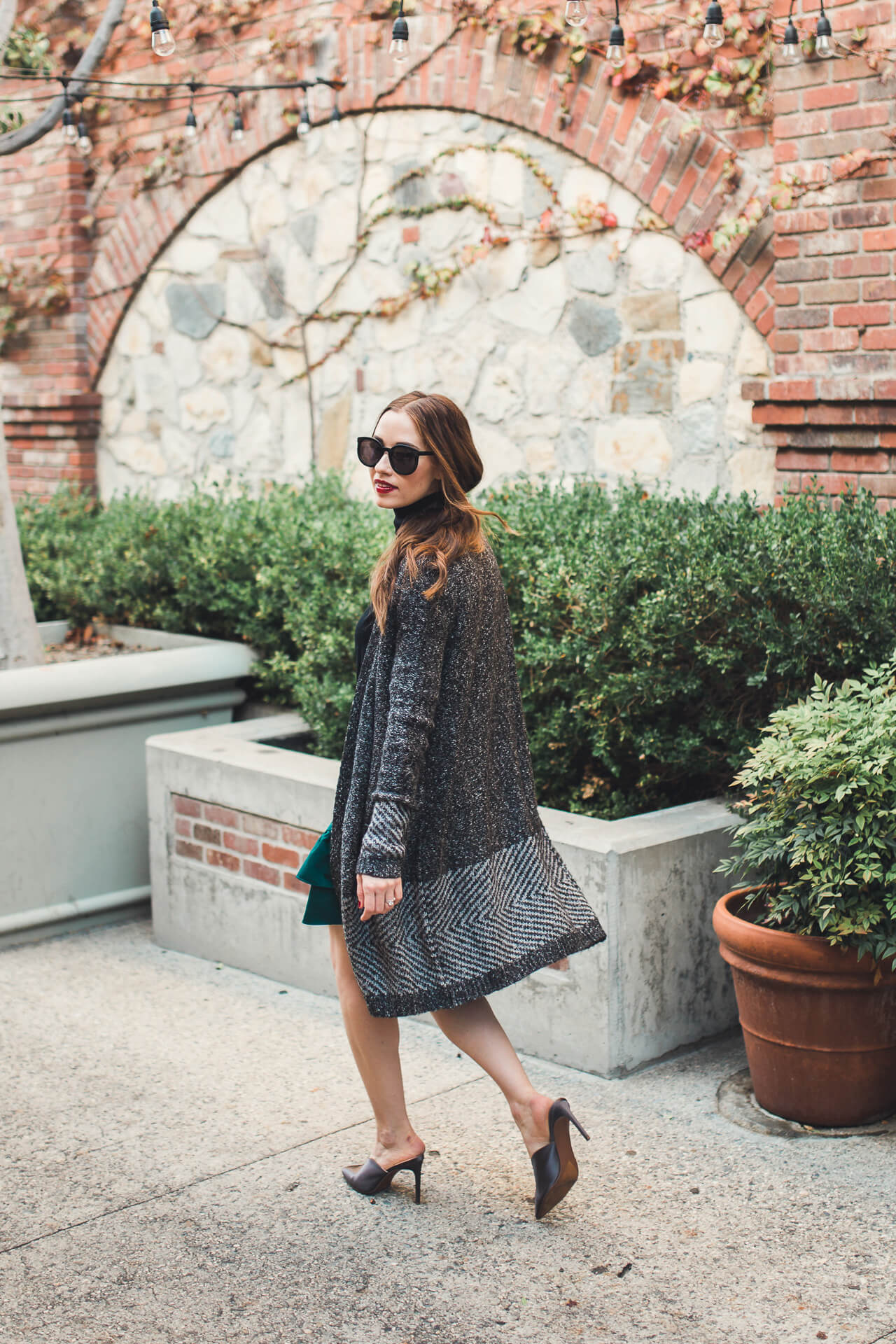 love this cardigan dressed with skirts and dresses this winter - M Loves M