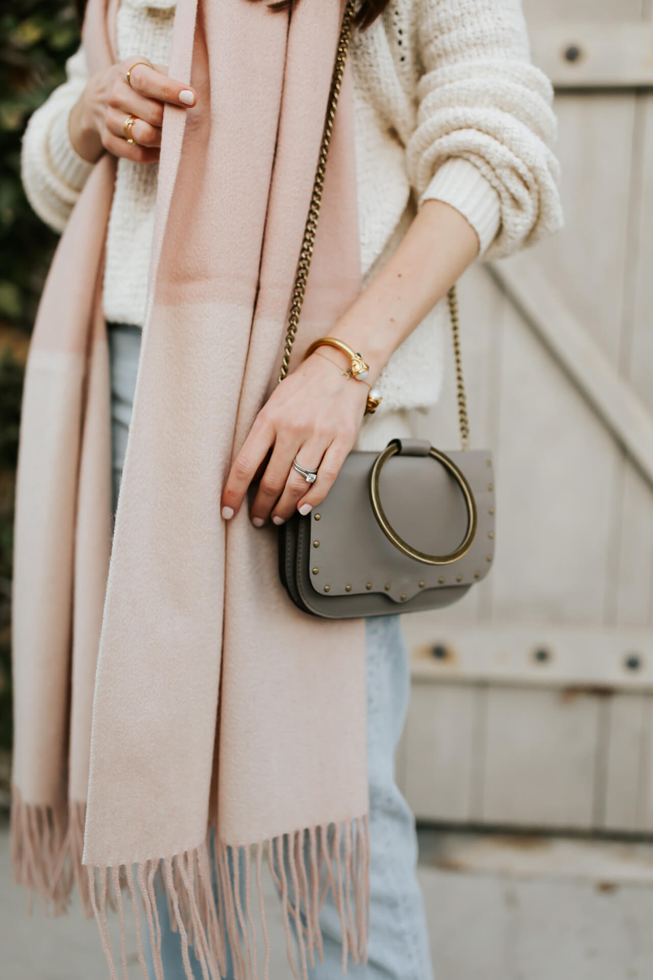 love this two tone feminine blush scarf from & other stories - M Loves M @marmar