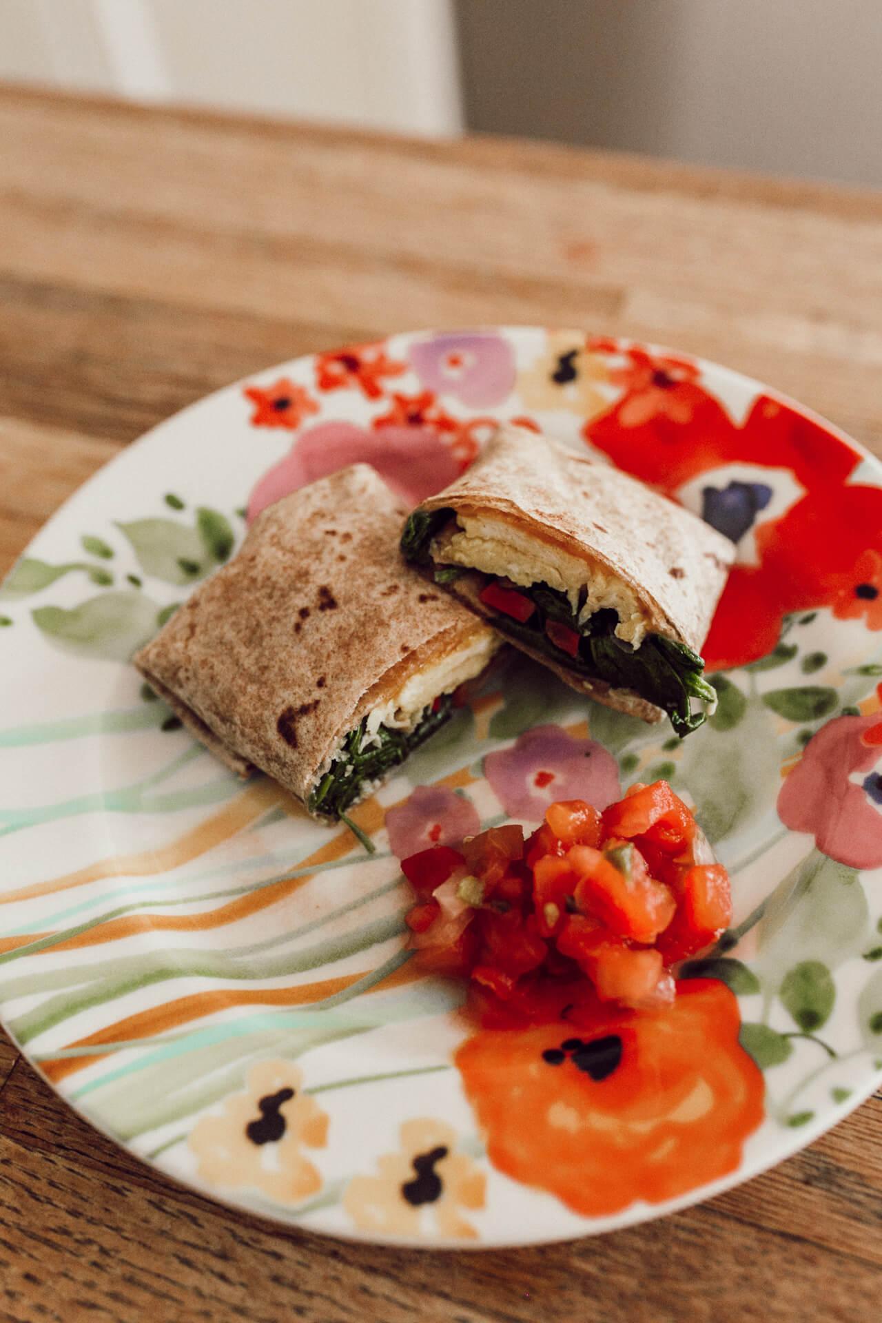 a healthy breakfast burrito- super easy to make for the week