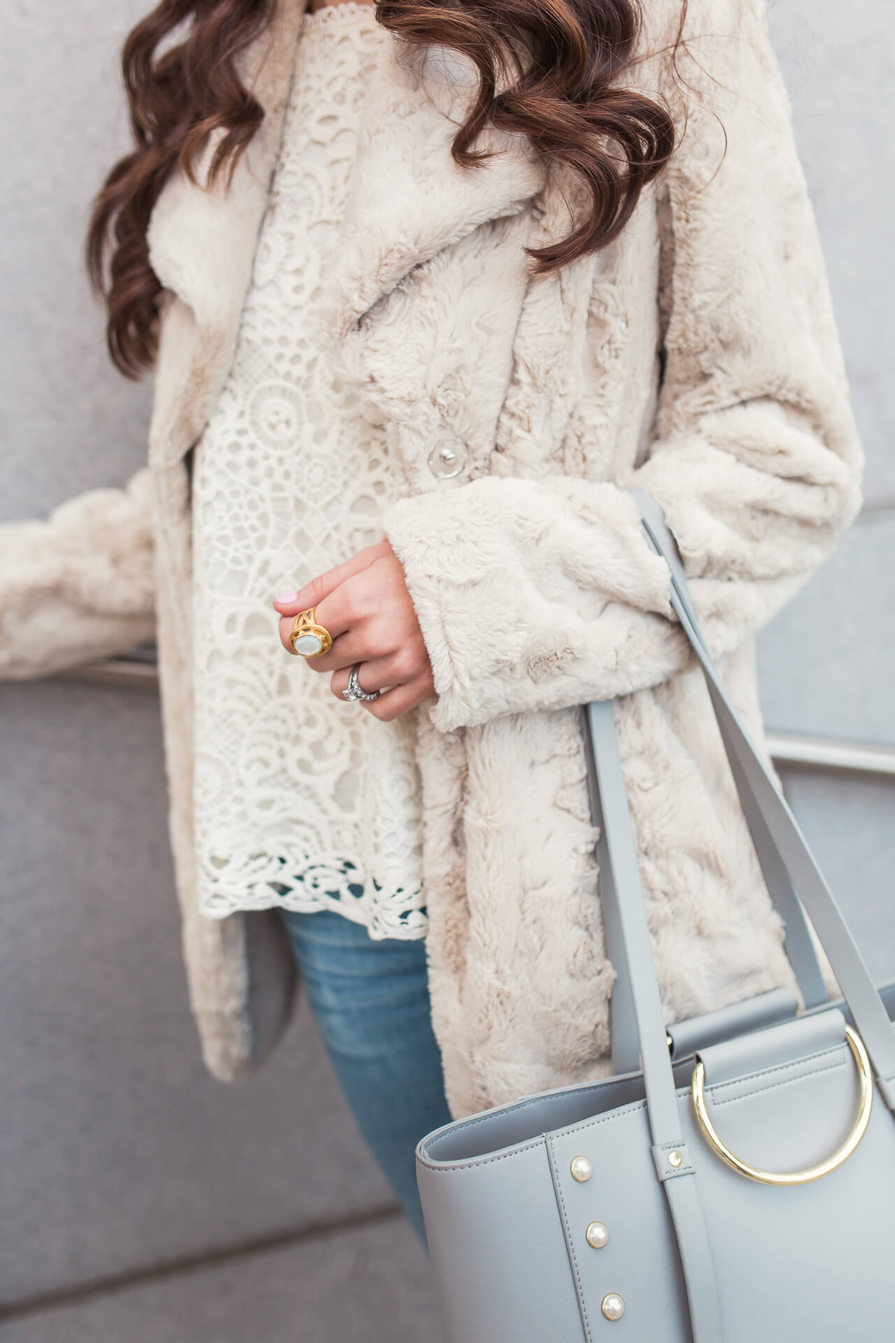 love this fluffy winter coat