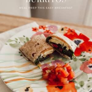 How to Meal Prep Healthy Breakfast Burritos - M Loves M @marmar