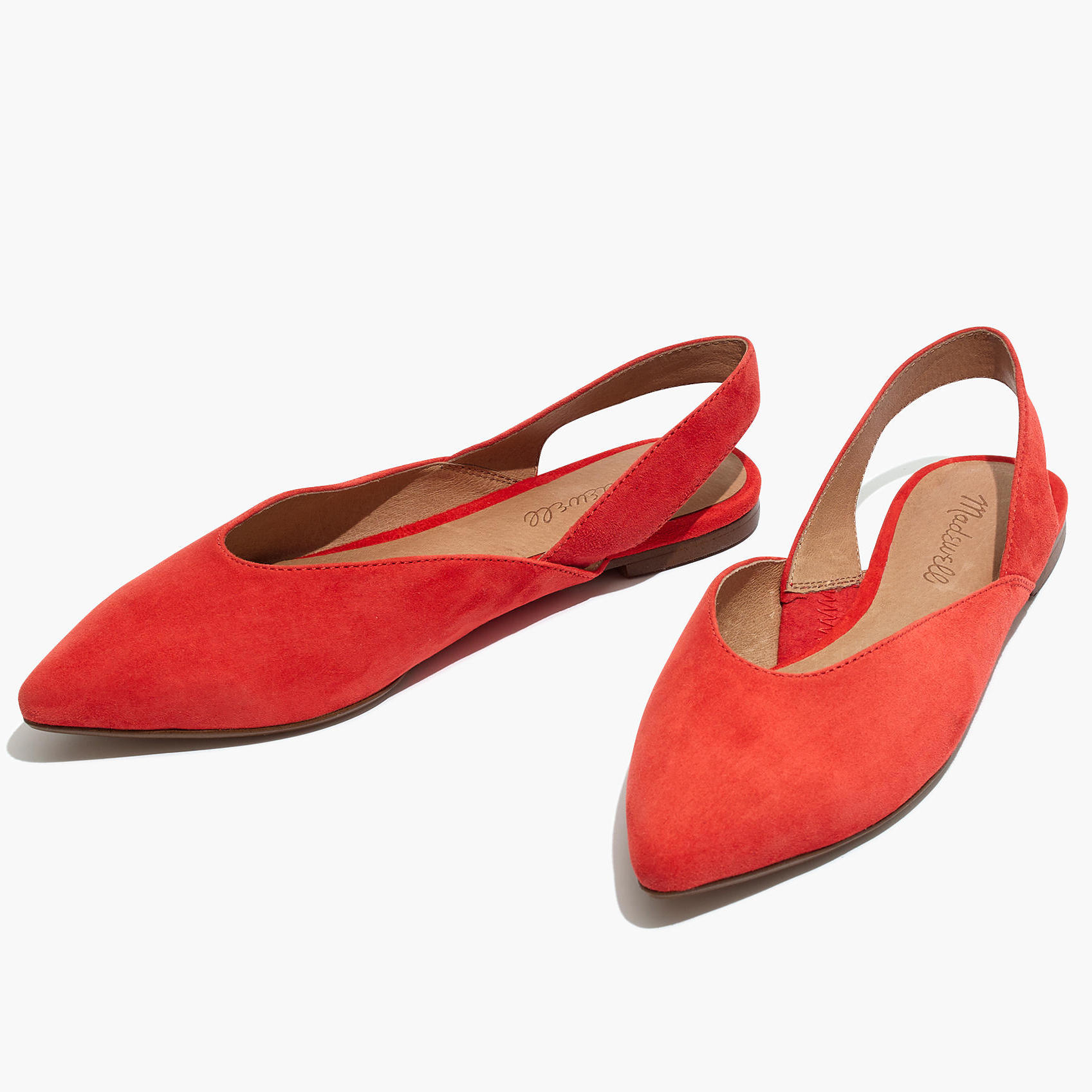 Adorable red ballet flats for spring
