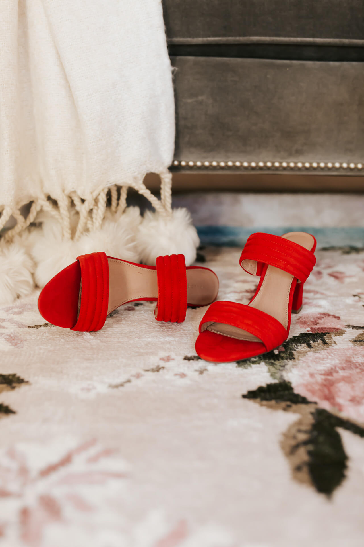 pretty red heels for Valentine's Day