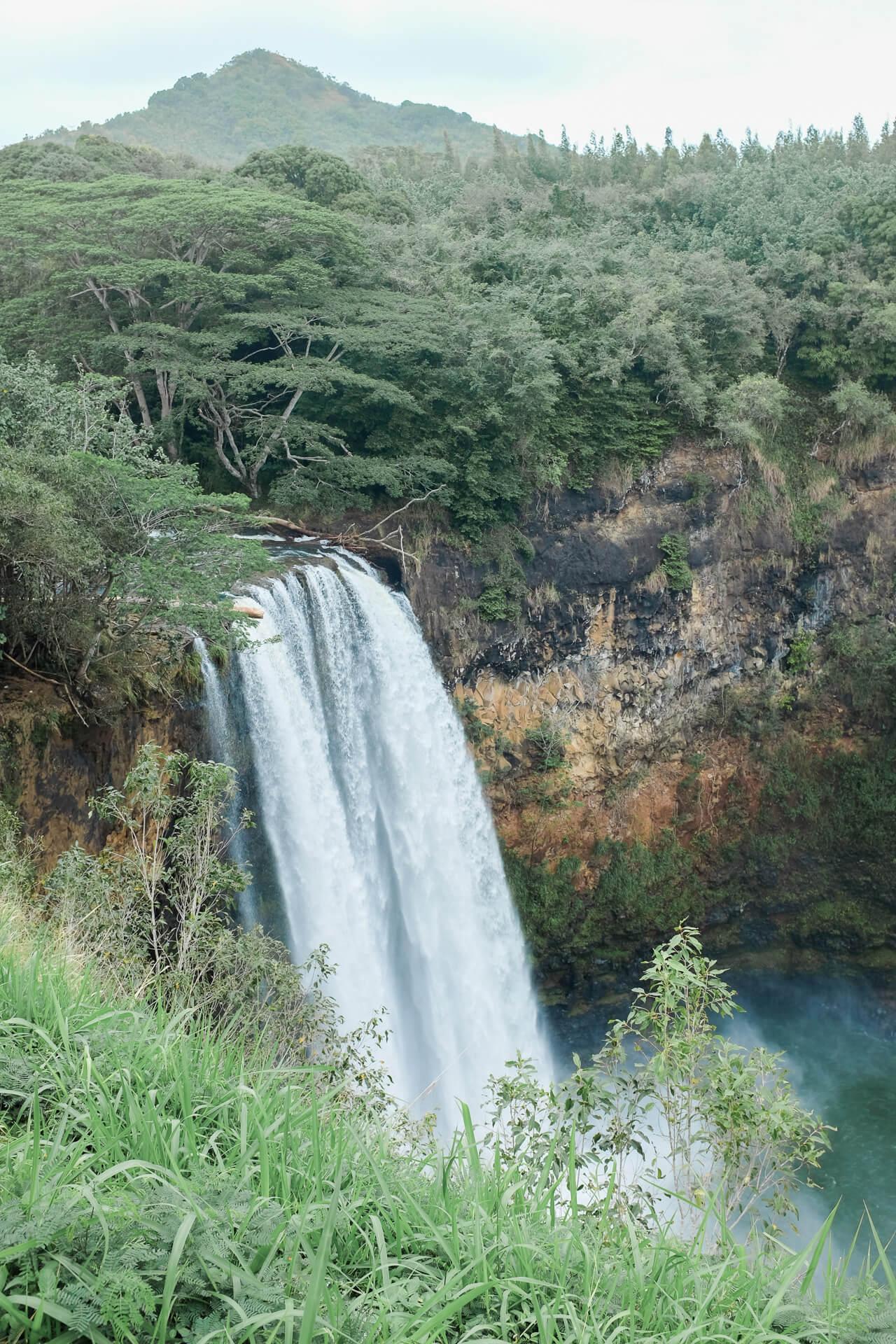 Wailua Falls waterfall - M Loves M