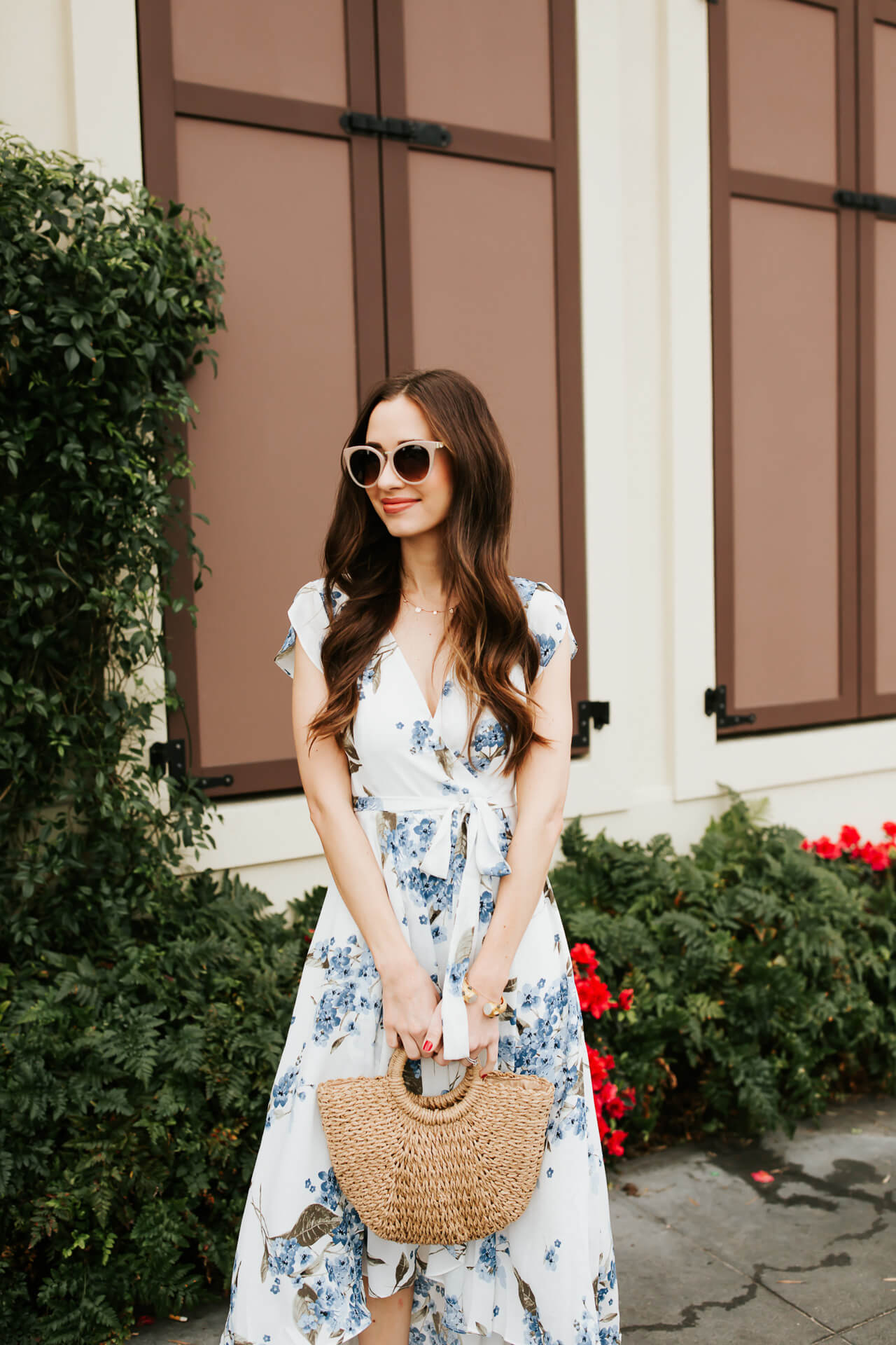 styling a blue floral maxi dress for spring - M Loves M @marmar