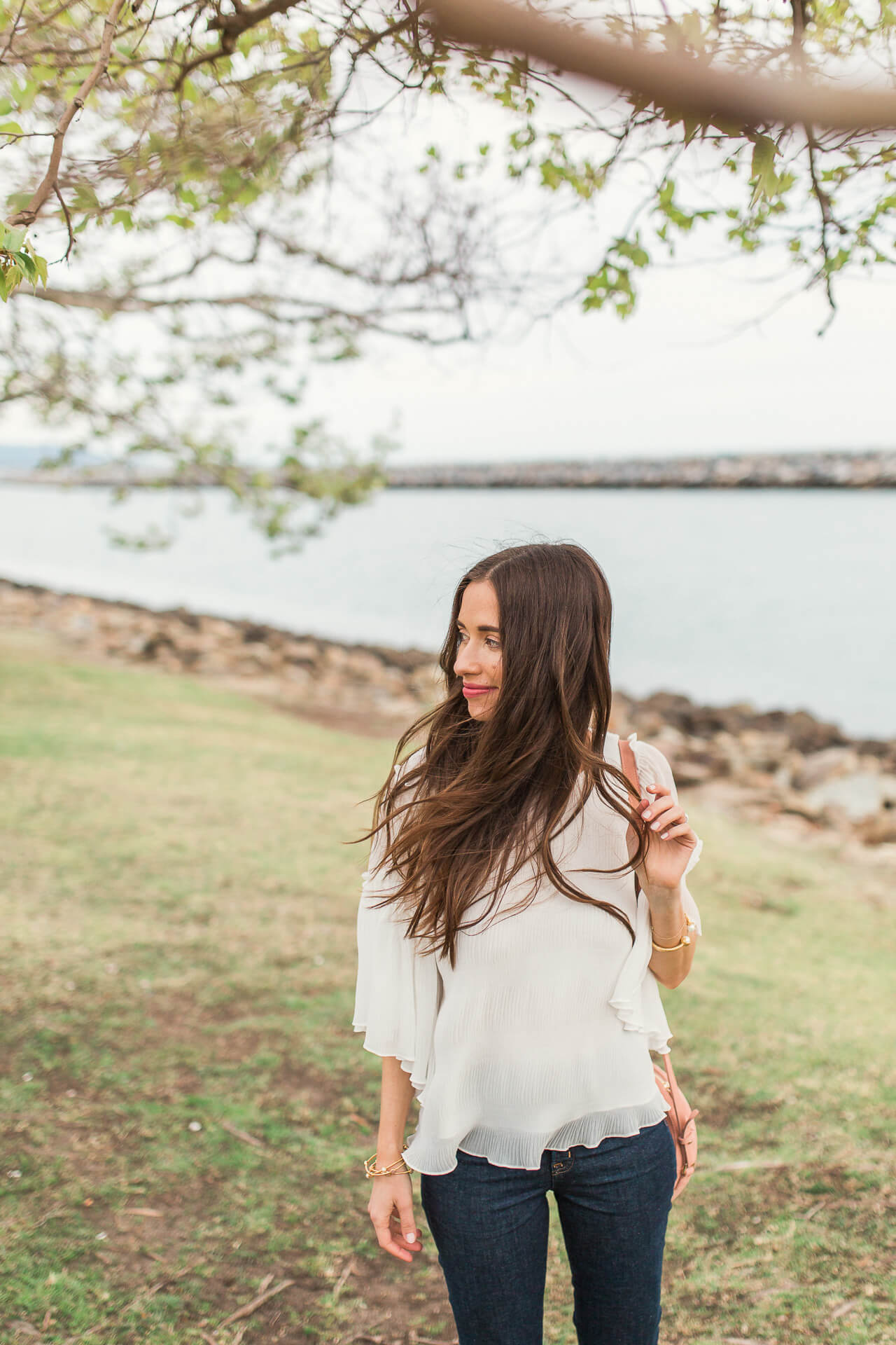 a great white blouse for spring