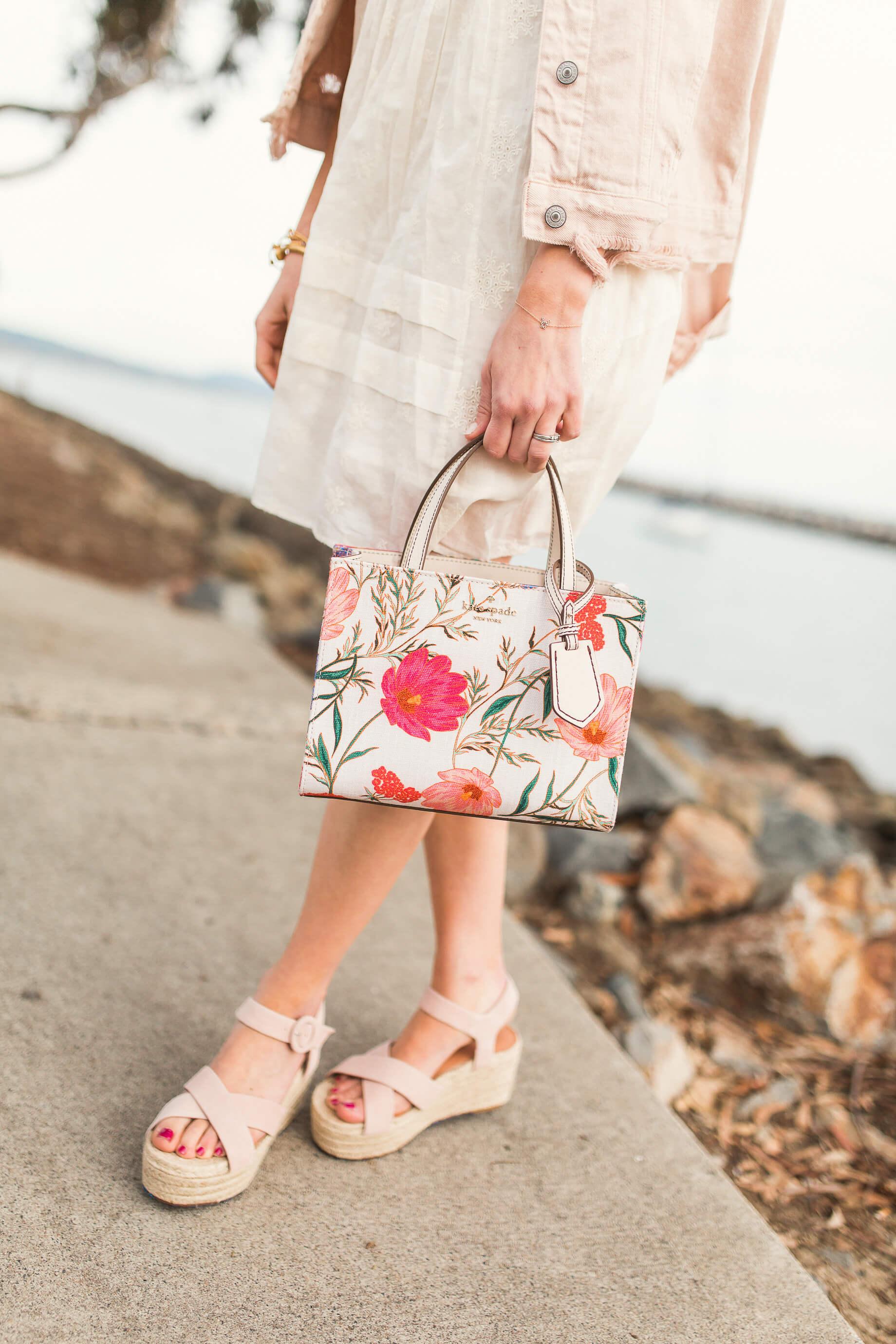 loving the pink floral bag for spring