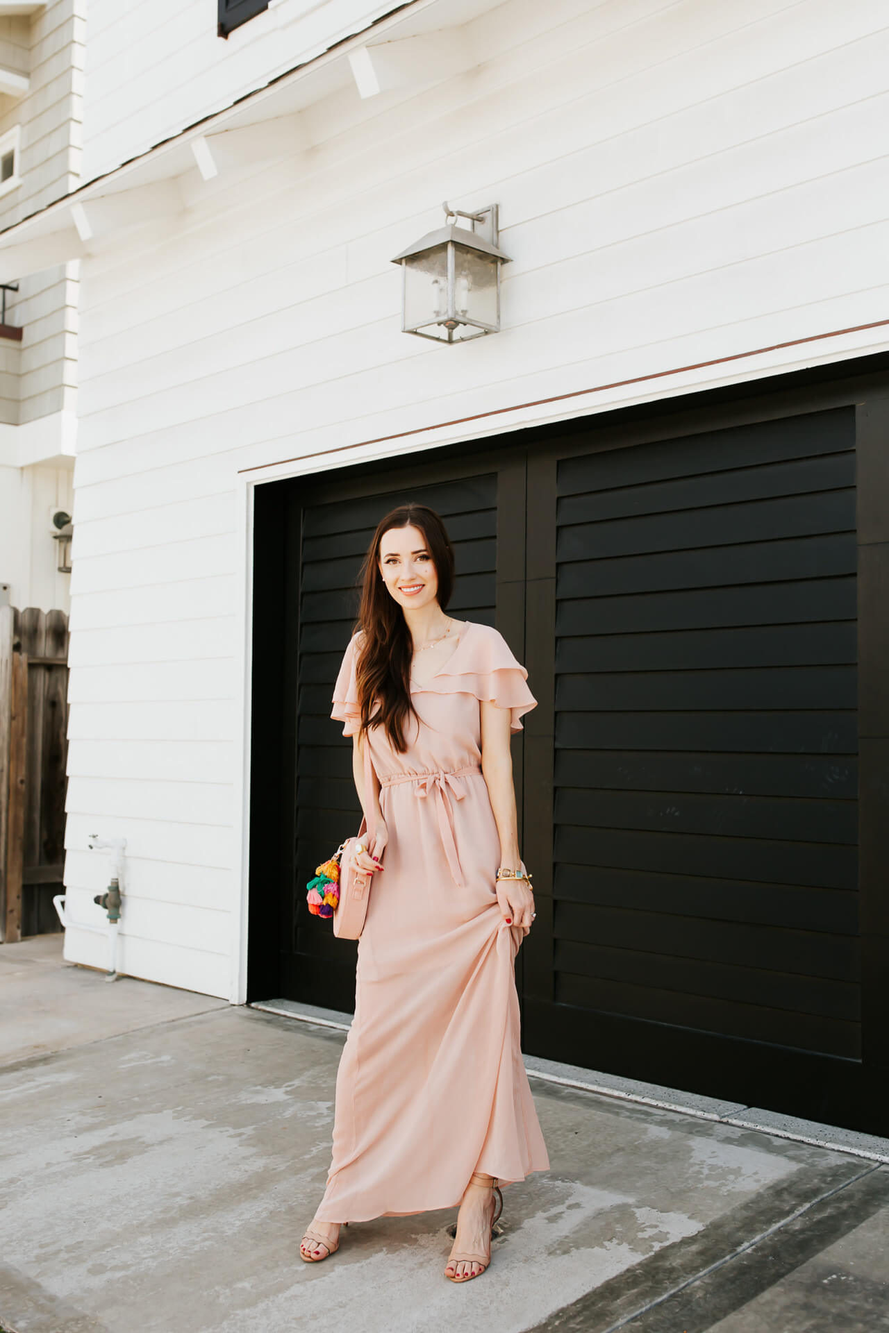 a flowy pink maxi dress from charles henry on M Loves M Mara Ferreira