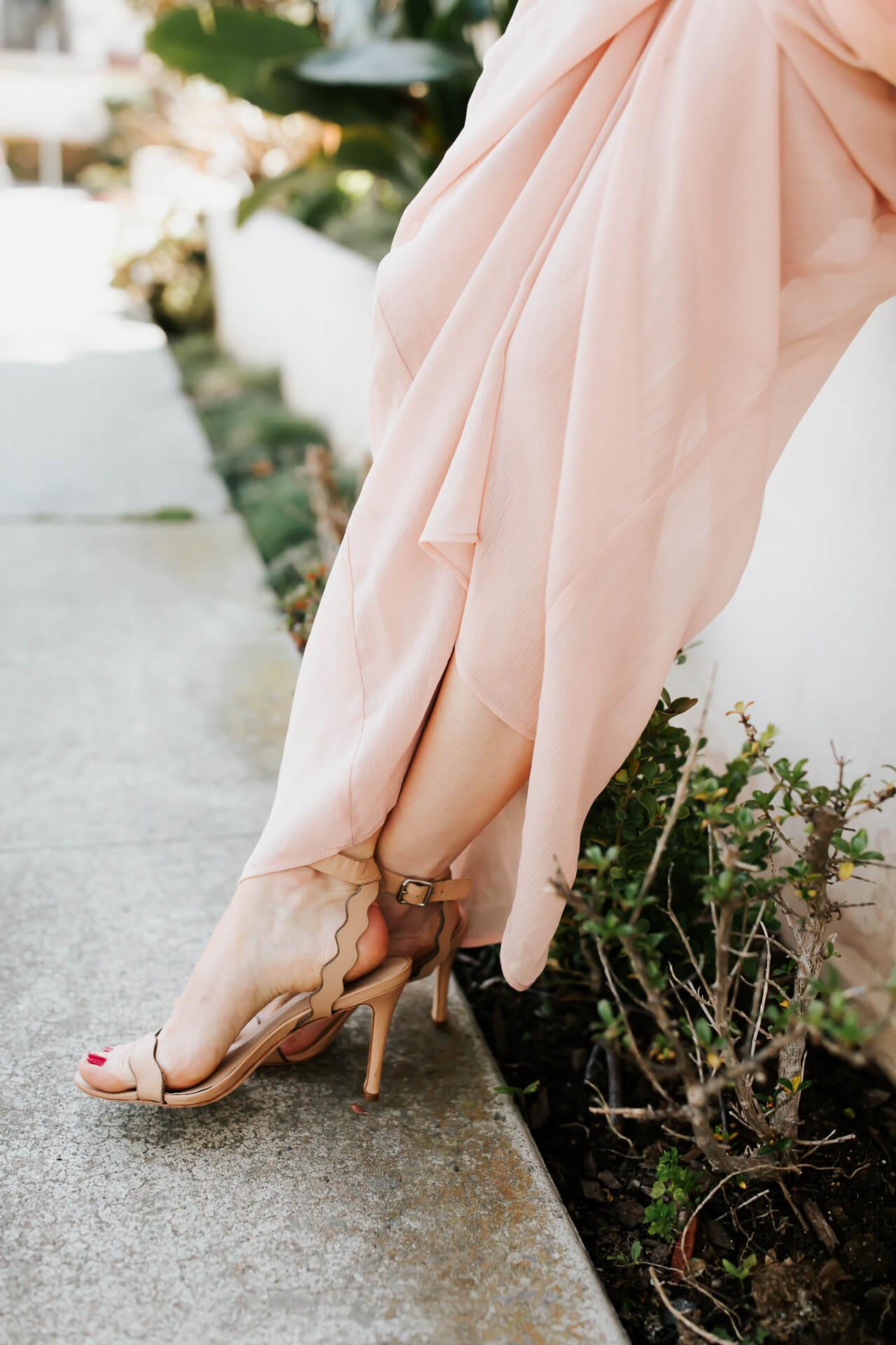 nude scalloped heels from loeffler randall