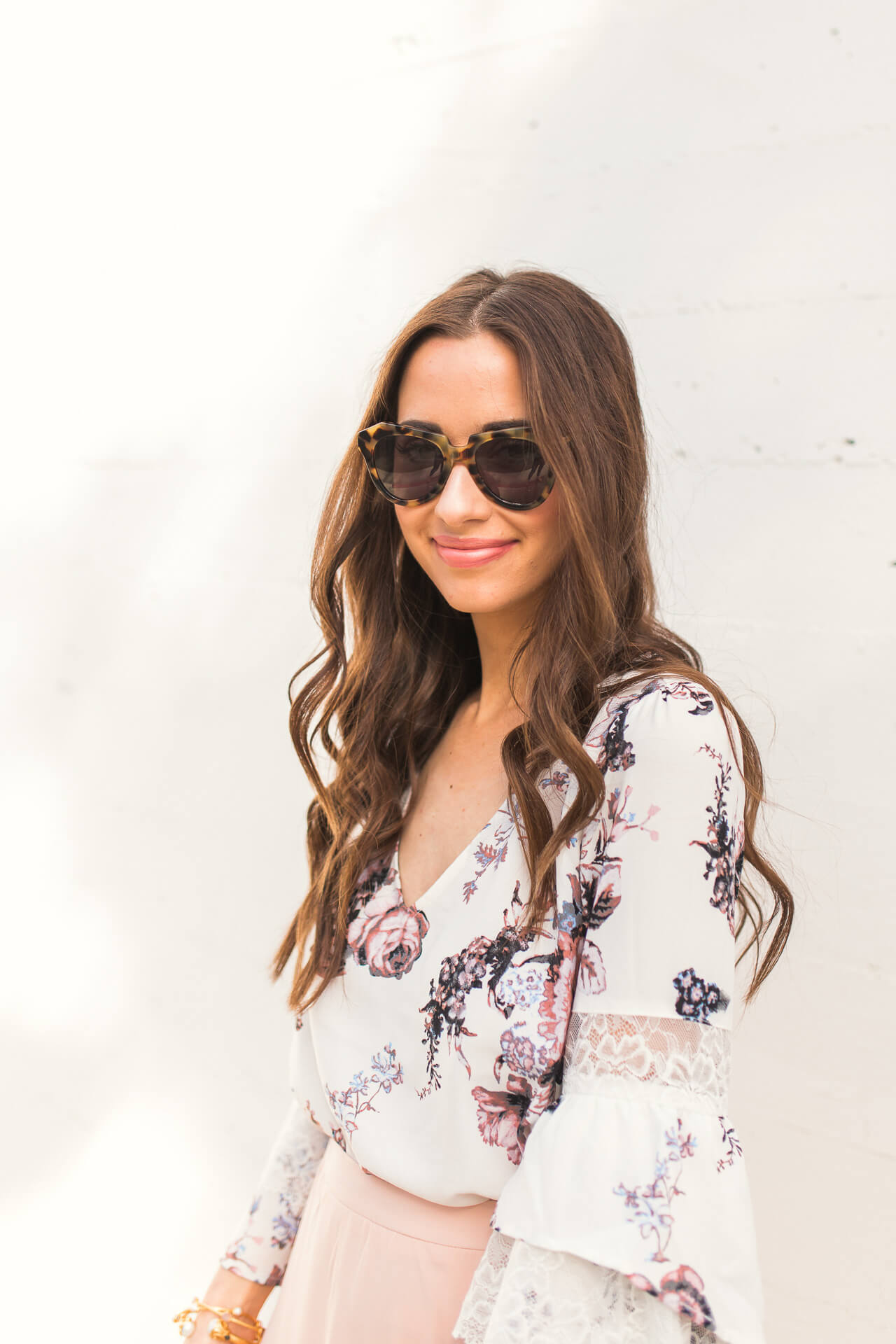 how to style a floral blouse for spring