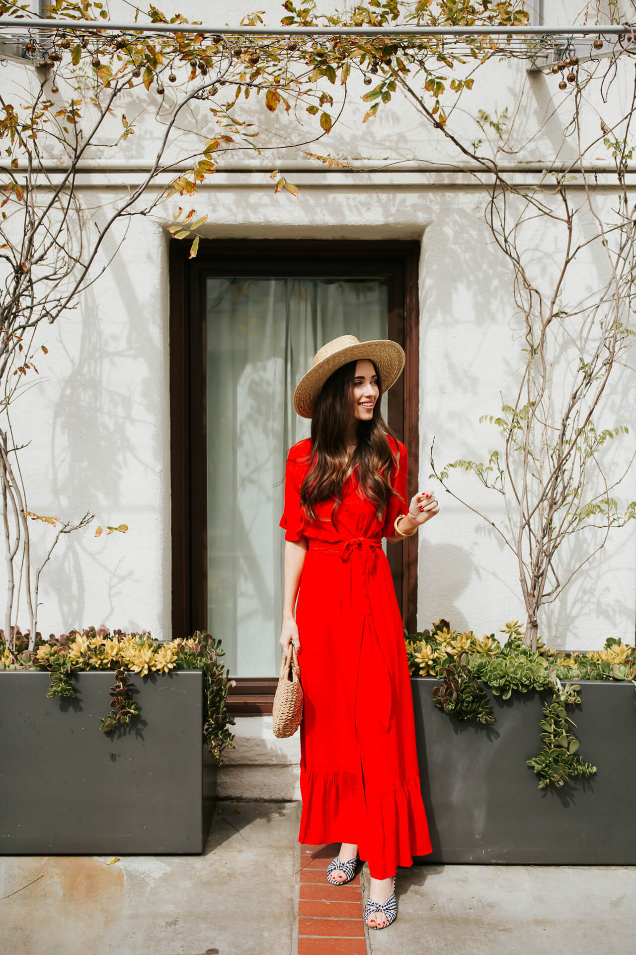 the color of the season - how to style a red maxi dress for spring and summer