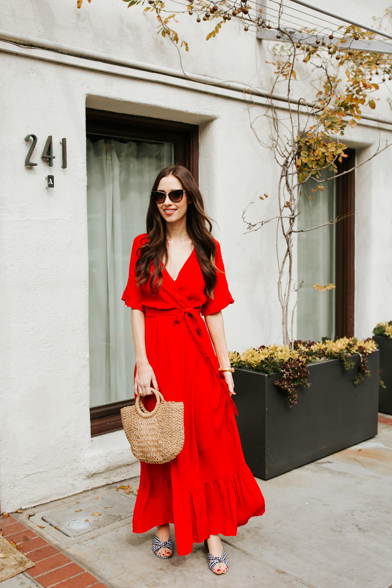 the prettiest red wrap dress to style for spring - M Loves M @marmar