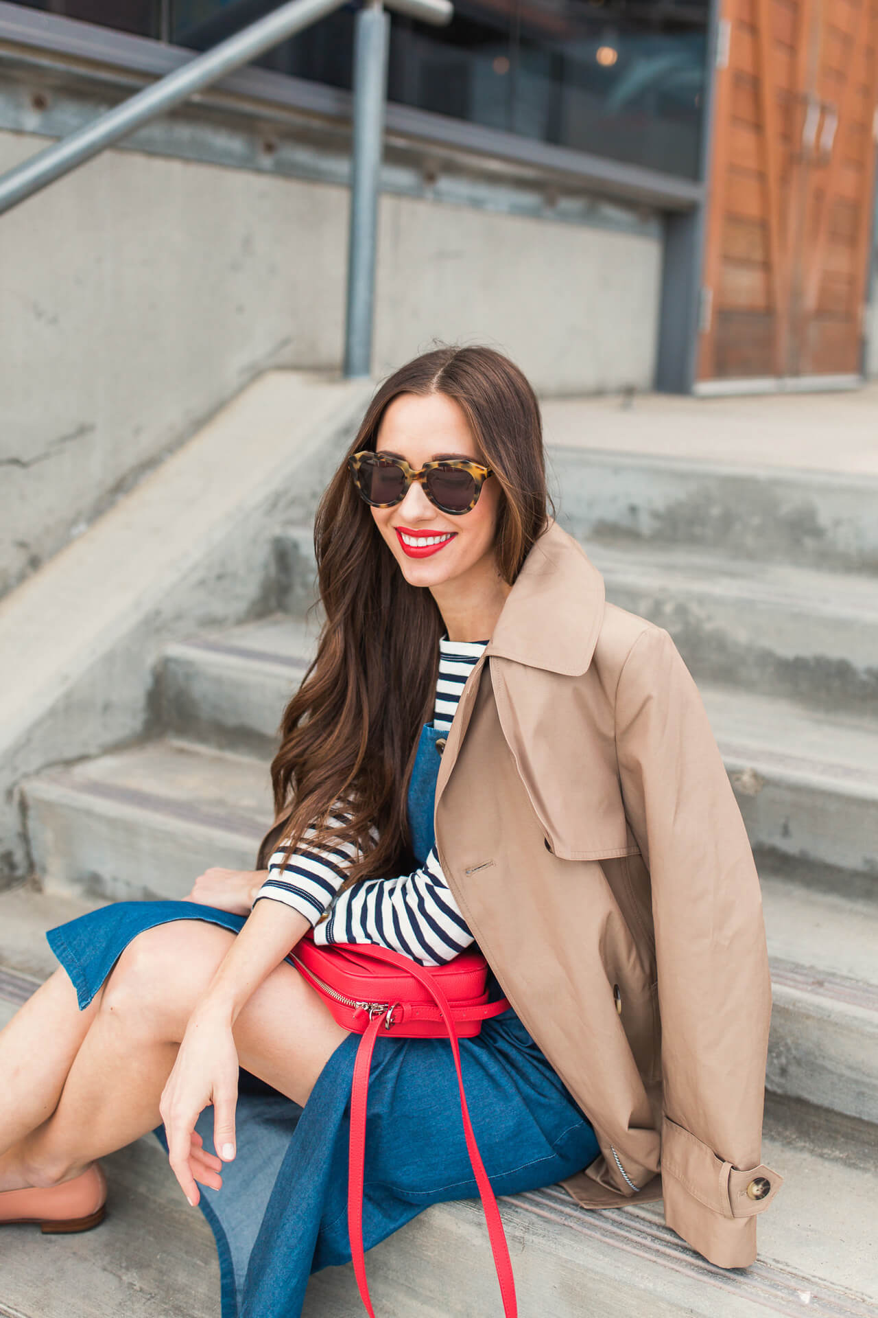 trench coat outfit inspiration for spring or fall - M Loves M