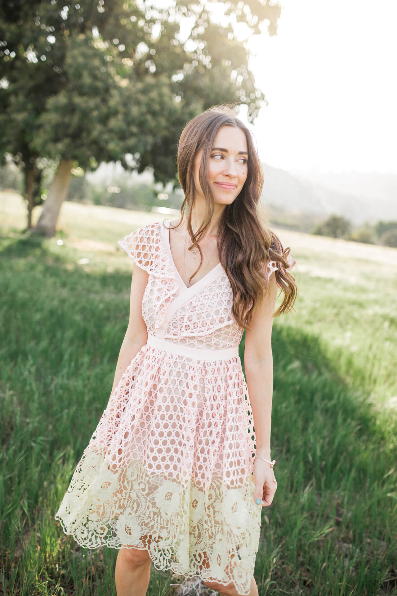 what to wear to a spring wedding - this pink and yellow dress is it!