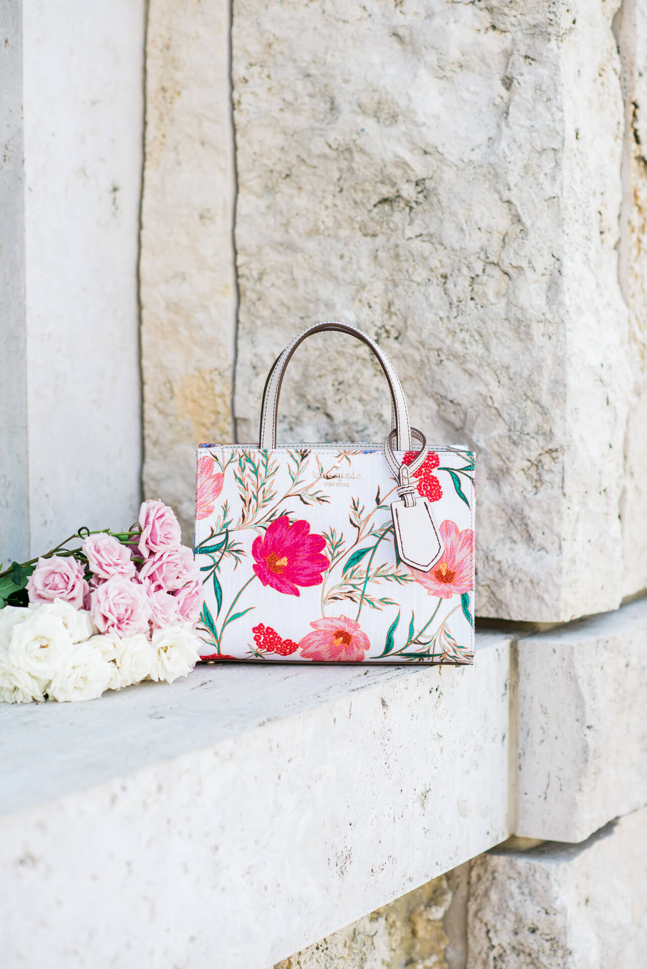 this is a must-have spring floral bag!