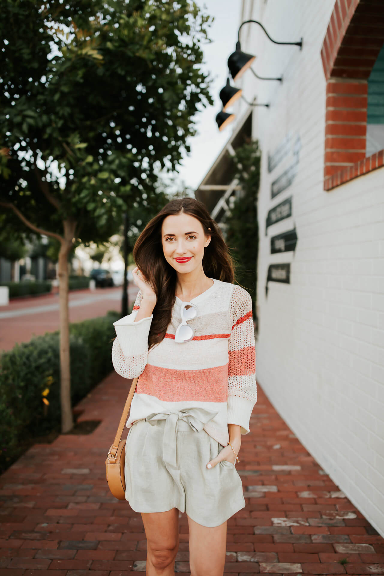 styling a pair of shorts with a sweater for spring - M Loves M @marmar
