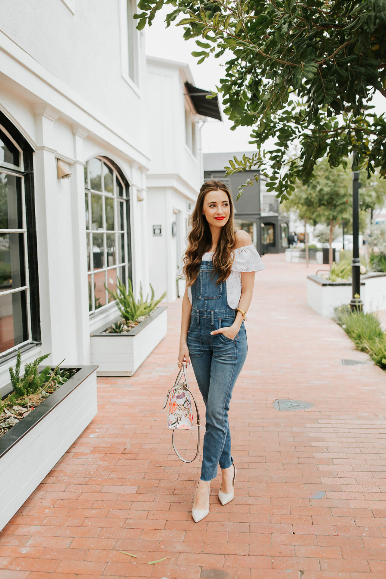Off the shoulder top + overalls? Yes please!| M Loves M @marmar