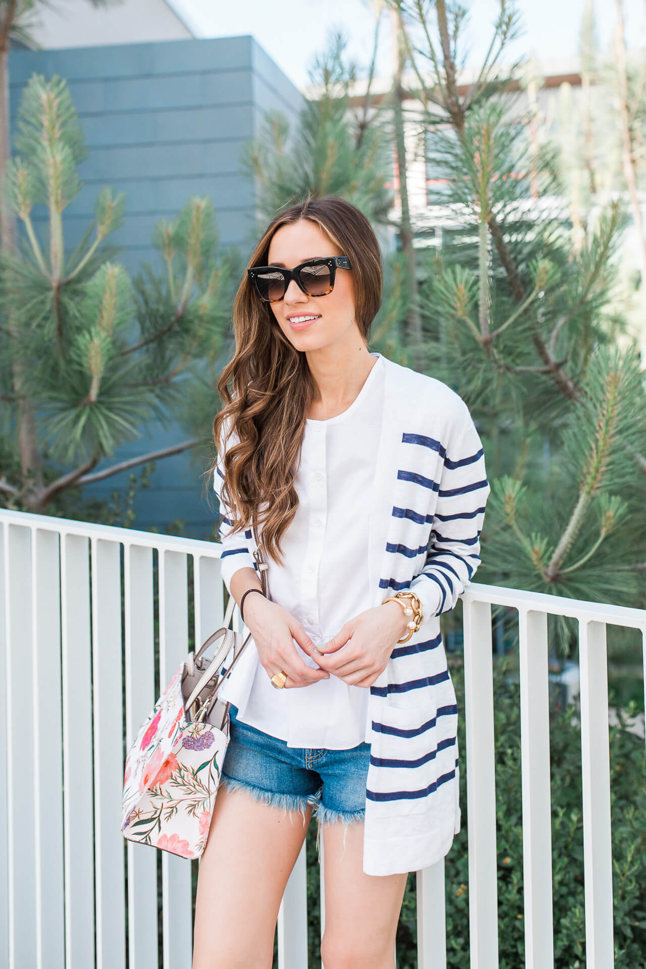 I love this nautical striped cardigan! | M Loves M @marmar