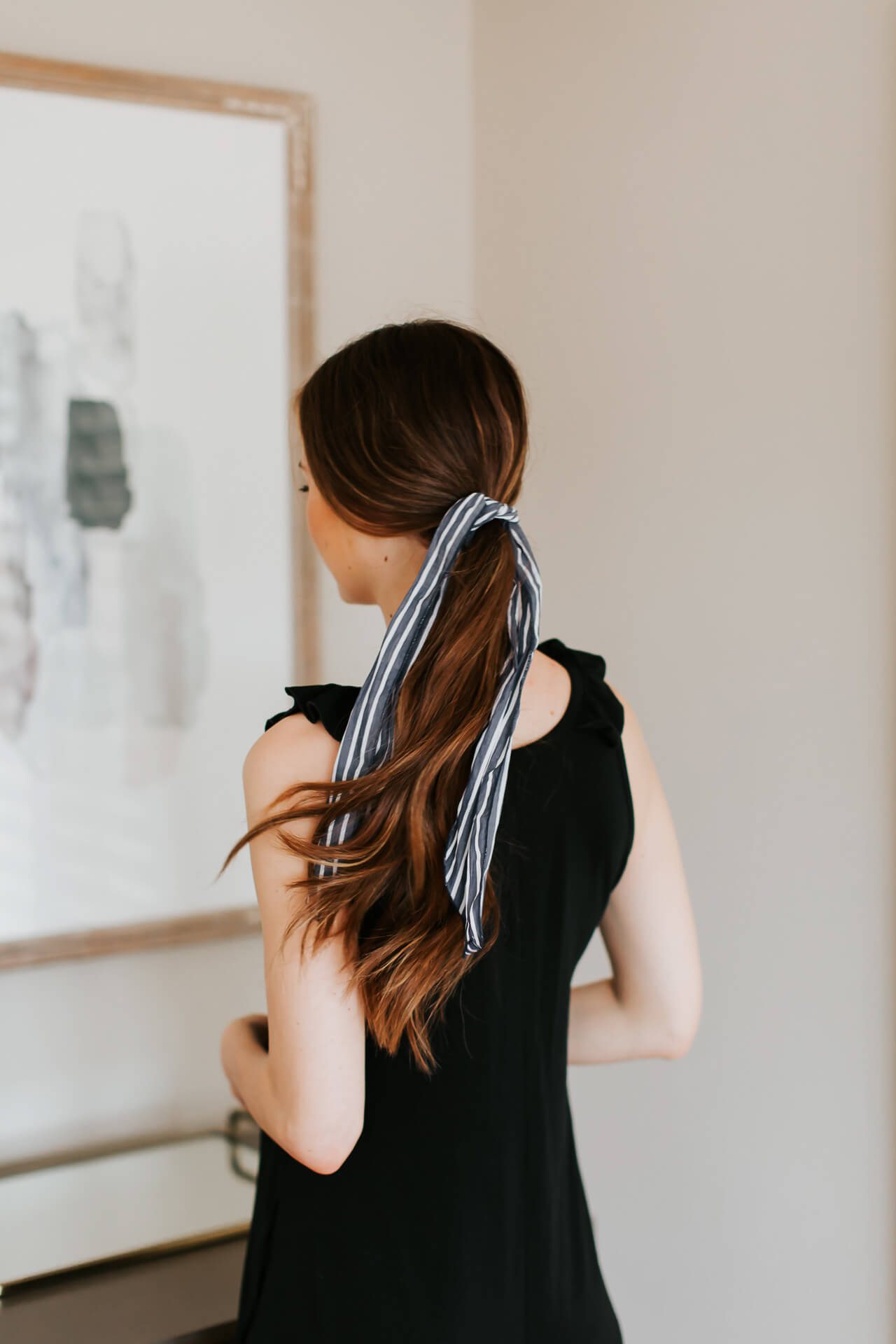 The ponytail scarf trend hairstyle I am loving right now! | M Loves M @marmar