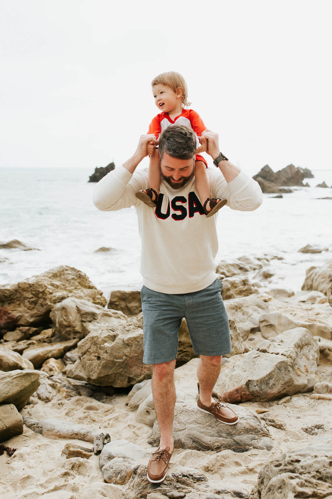 These matching father and son outfits are too cute! | M Loves M @marmar
