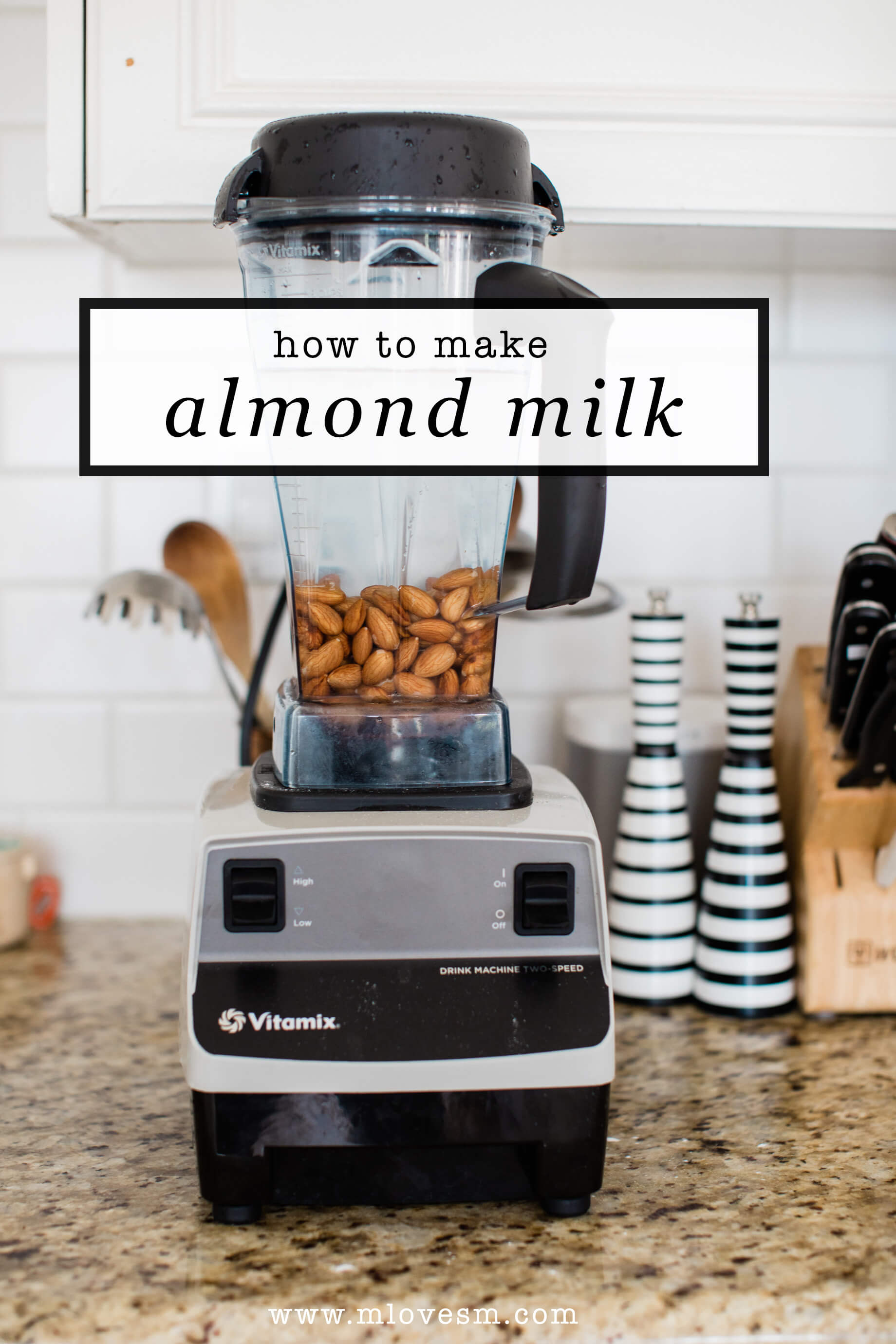 My homemade almond milk recipe is so easy and healthy! | M Loves M @marmar