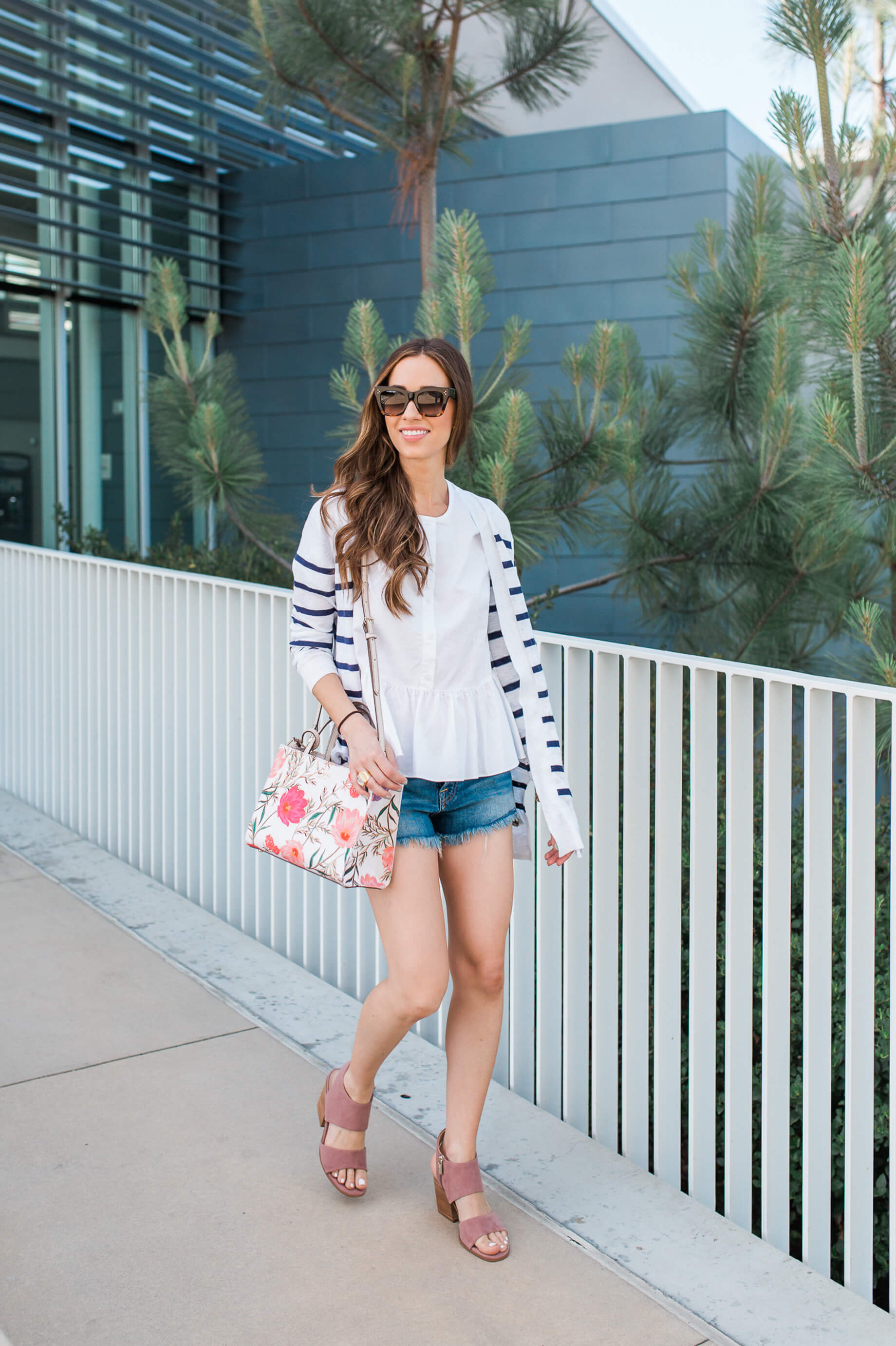 A Grown-Up Way to Wear Jean Cut Off Shorts | M Loves M