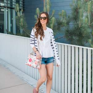 How to style jean cut off shorts. | M Loves M @marmar