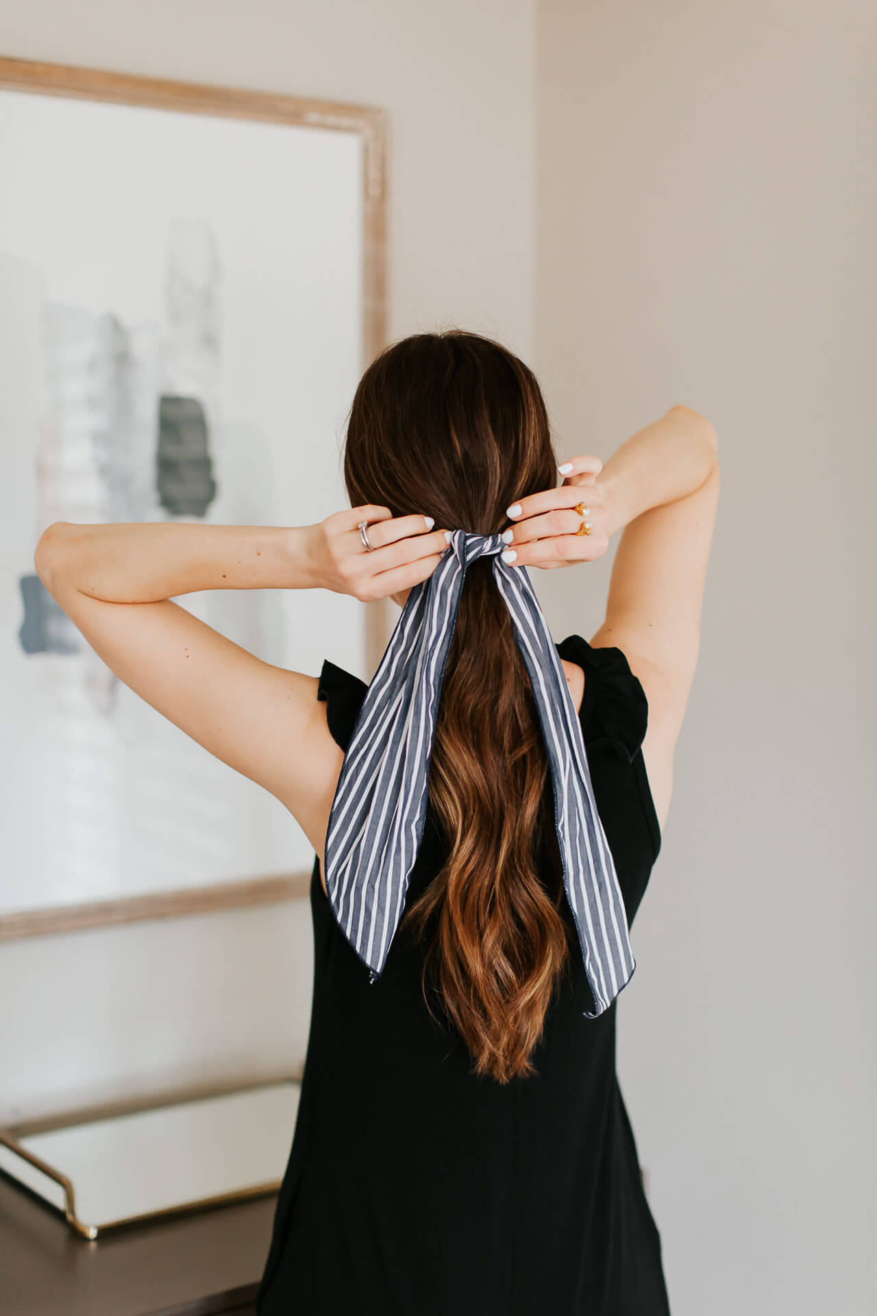 How to style a ponytail hair scarf! | M Loves M @marmar