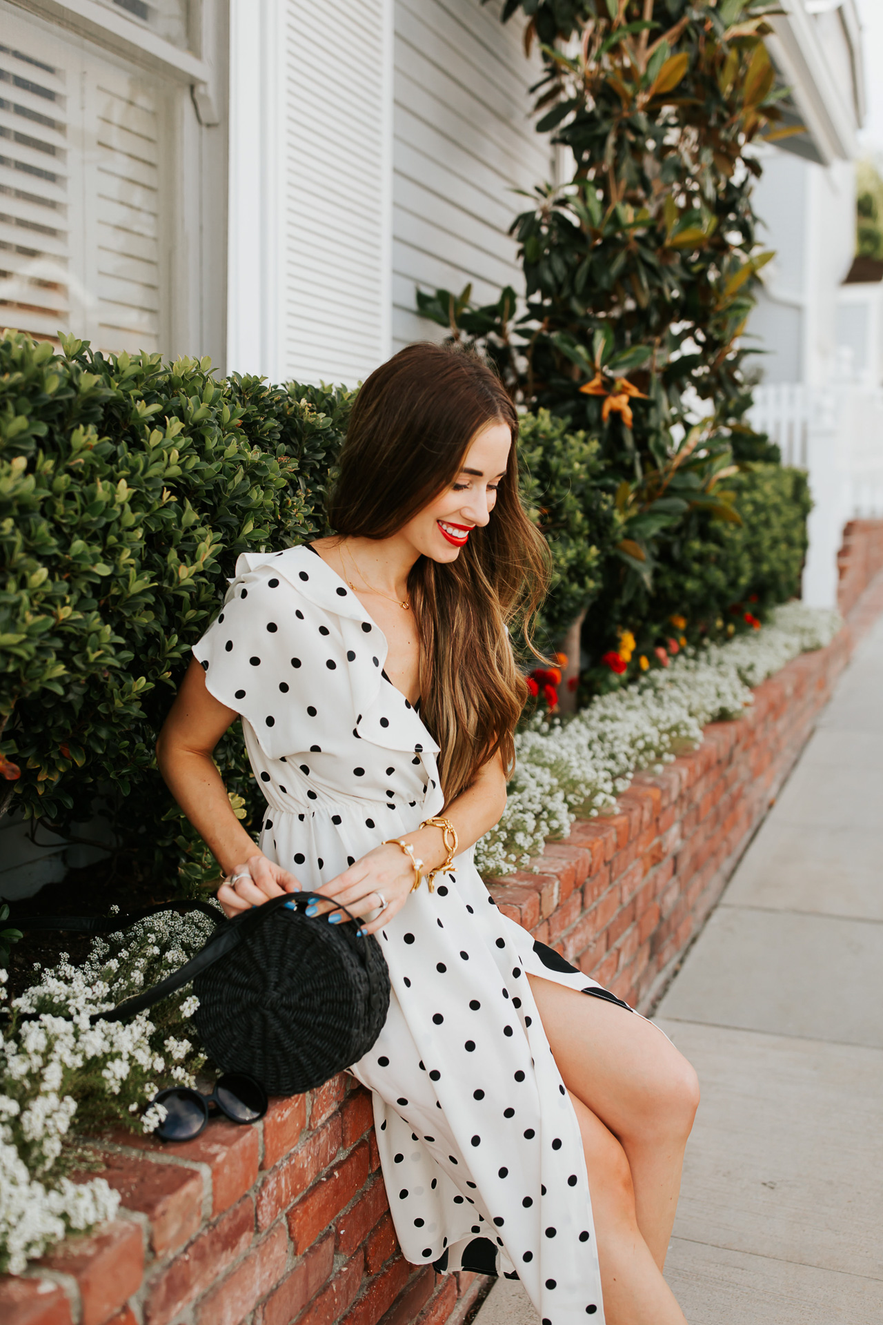 A black and white polka dot dress. | M Loves M @marmar
