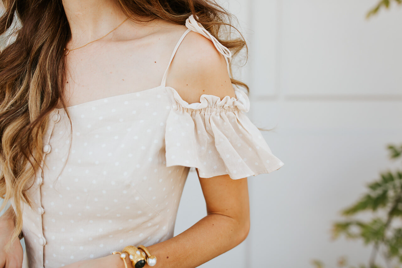 I love a good off the shoulder dress! | M Loves M @marmar