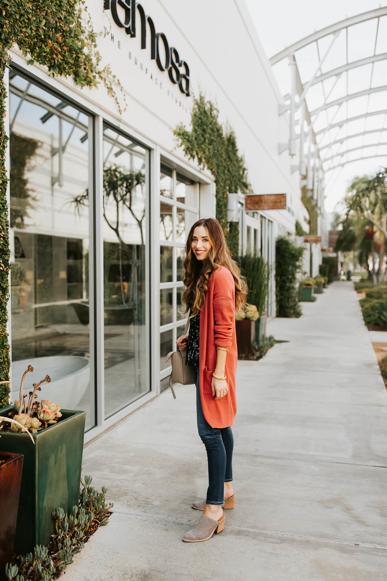 I love red sweaters! Such a fun pop of color in a fall outfit! | M Loves M @marmar