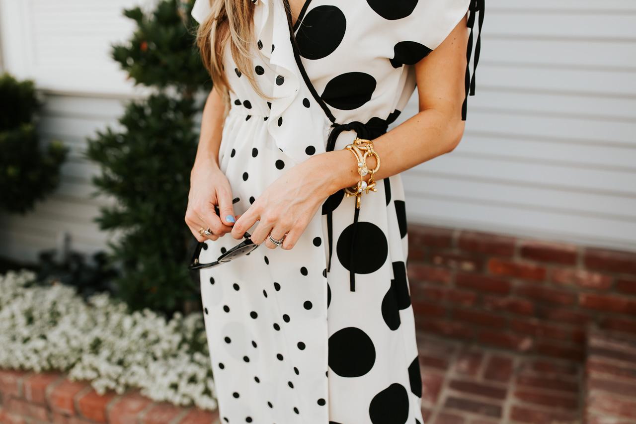Topshop black and white polka dot dress. | M Loves M @marmar