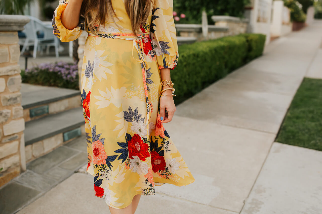 Wrap dress outfit inspiration. | M Loves M @marmar