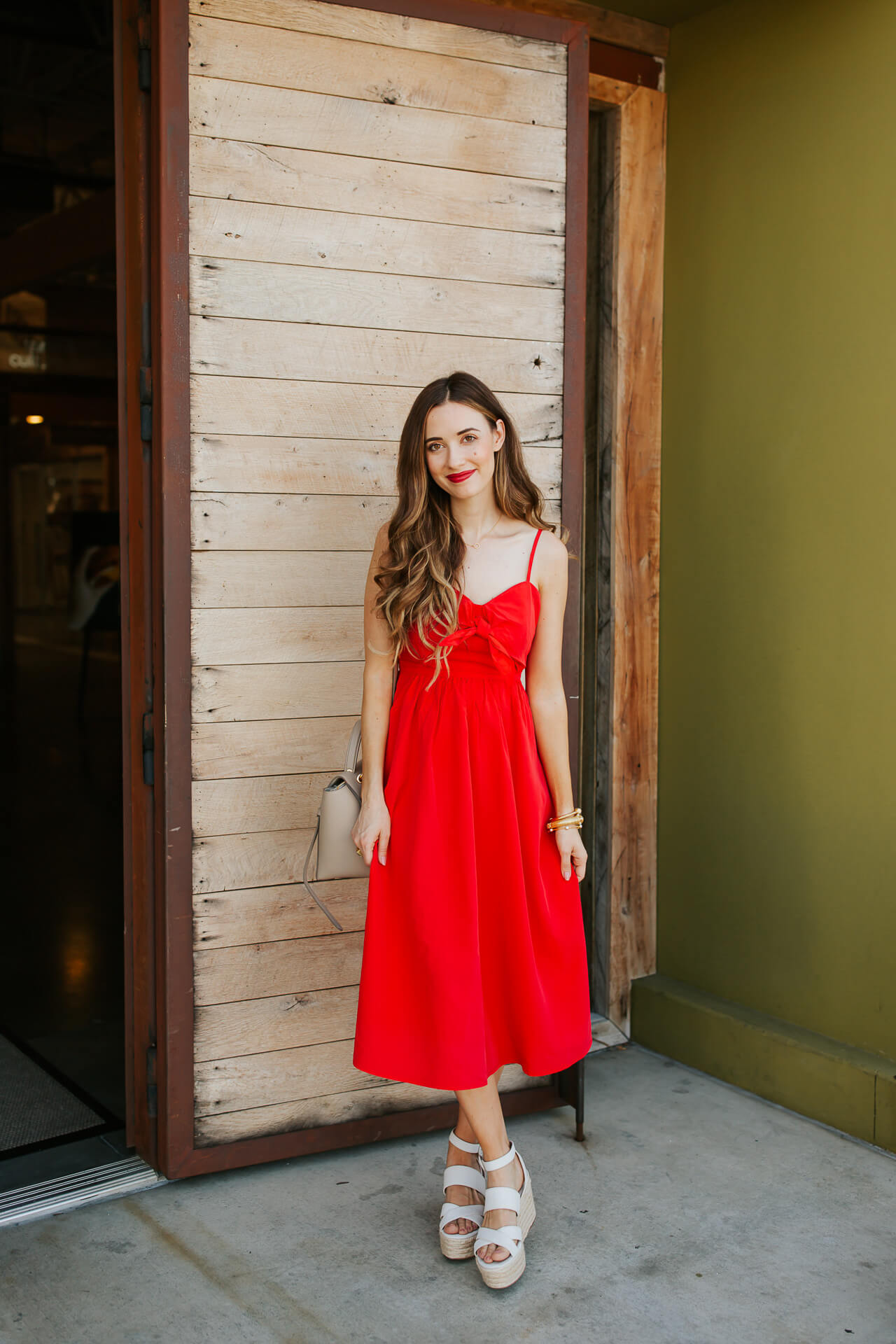 I'm crazy about red dresses! I love how romantic this dress is? | M Loves M @marmar