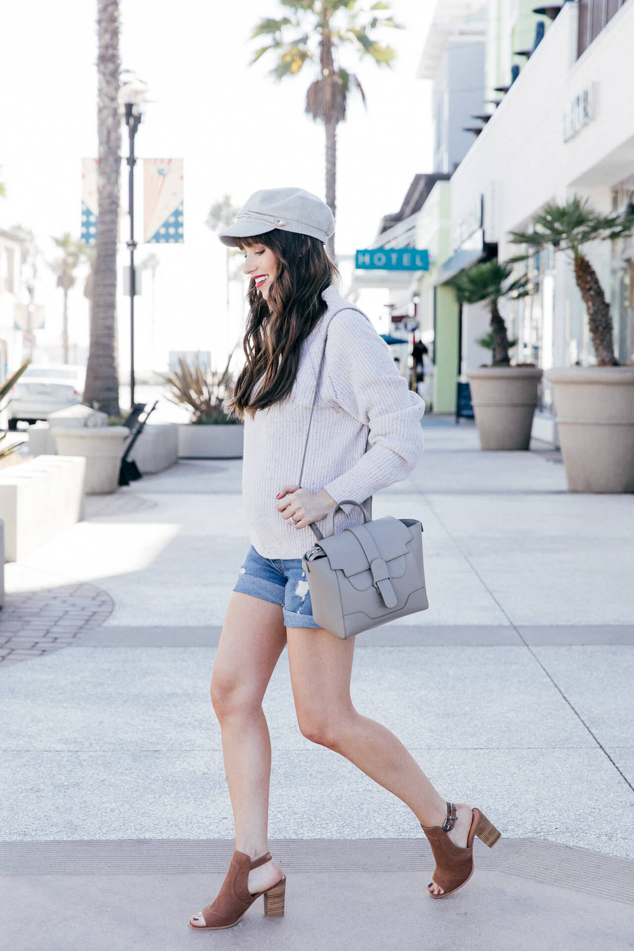 I love this outfit inspired by SoCal in fall! Shorts with a sweater are so cute!   M Loves M @marmar