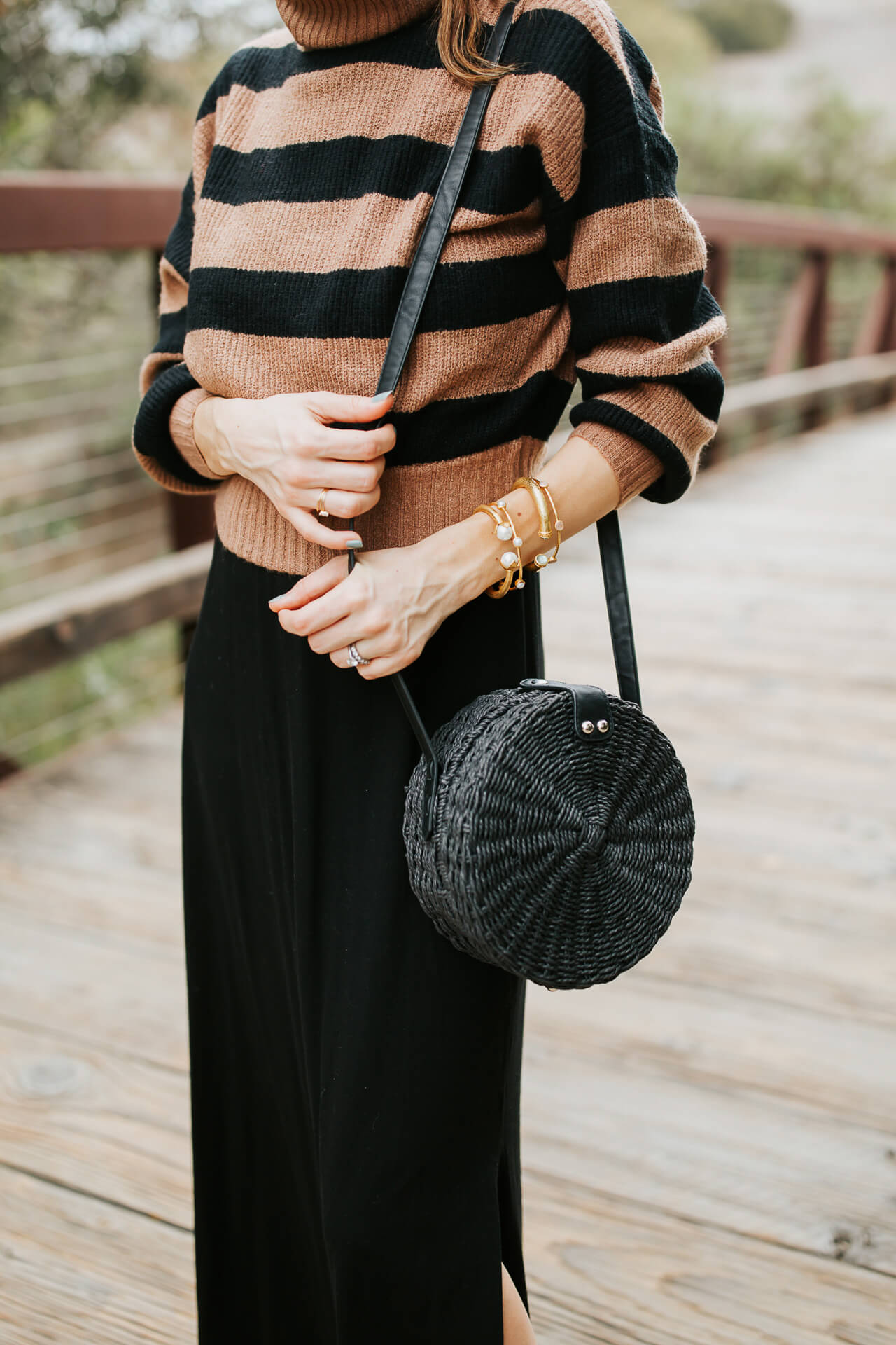 This black straw circle bag from Topshop works just as well in the fall as it does summer. | M Loves M @marmar
