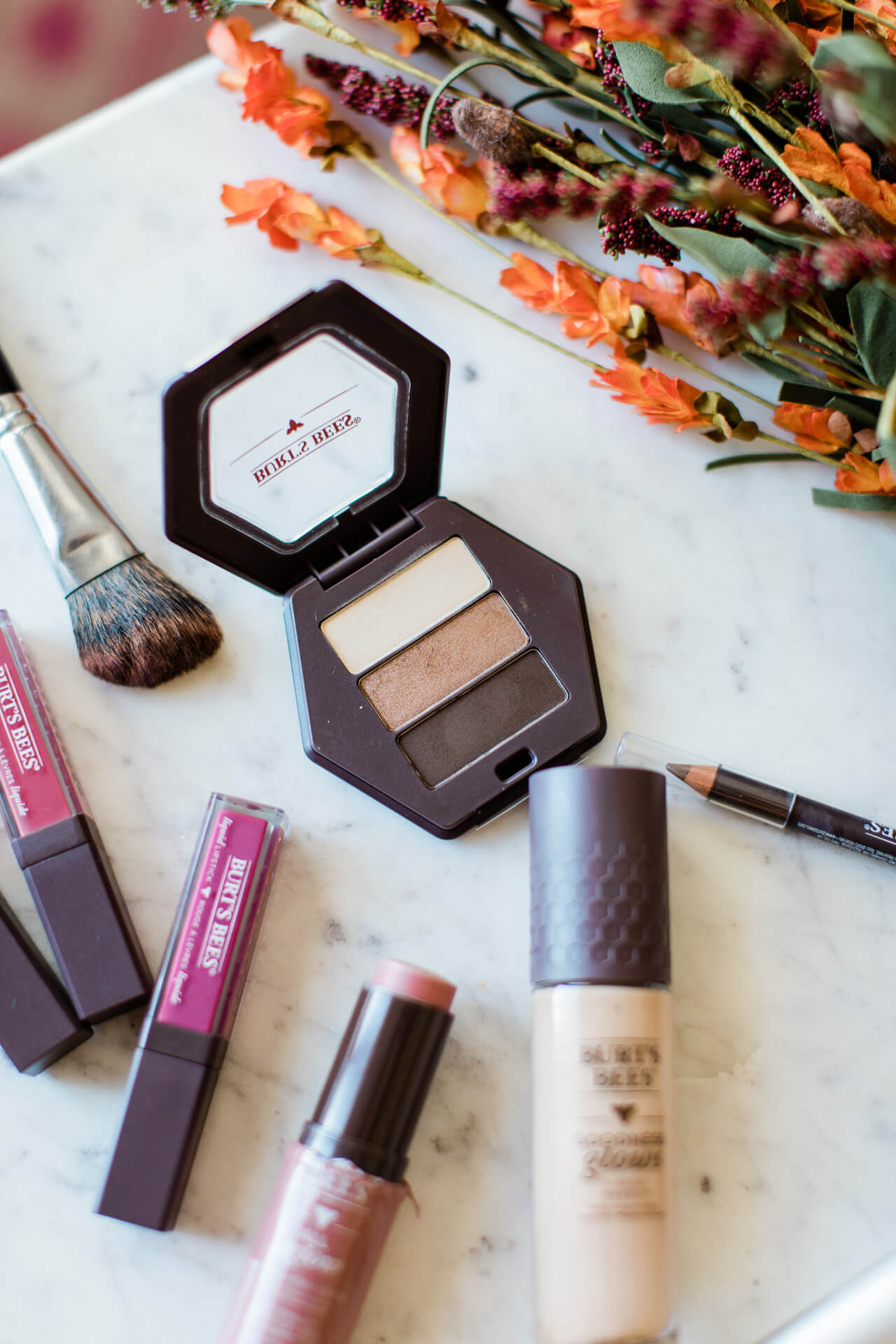 I love the berry and neutral tones in these Burt's Bees makeup products. | M Loves M @marmar