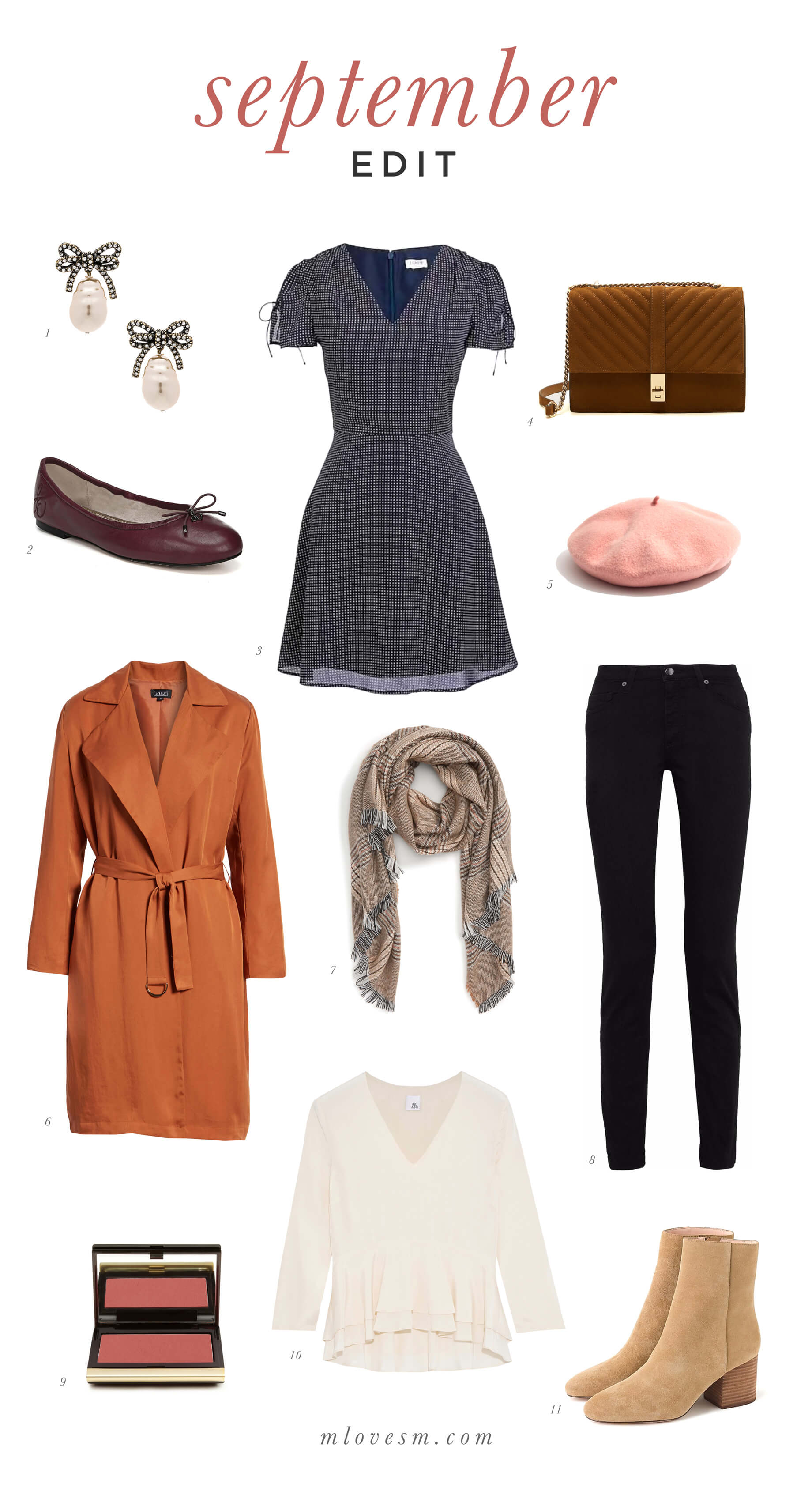 Classic Parisian style picks for fall. | M Loves M @marmar
