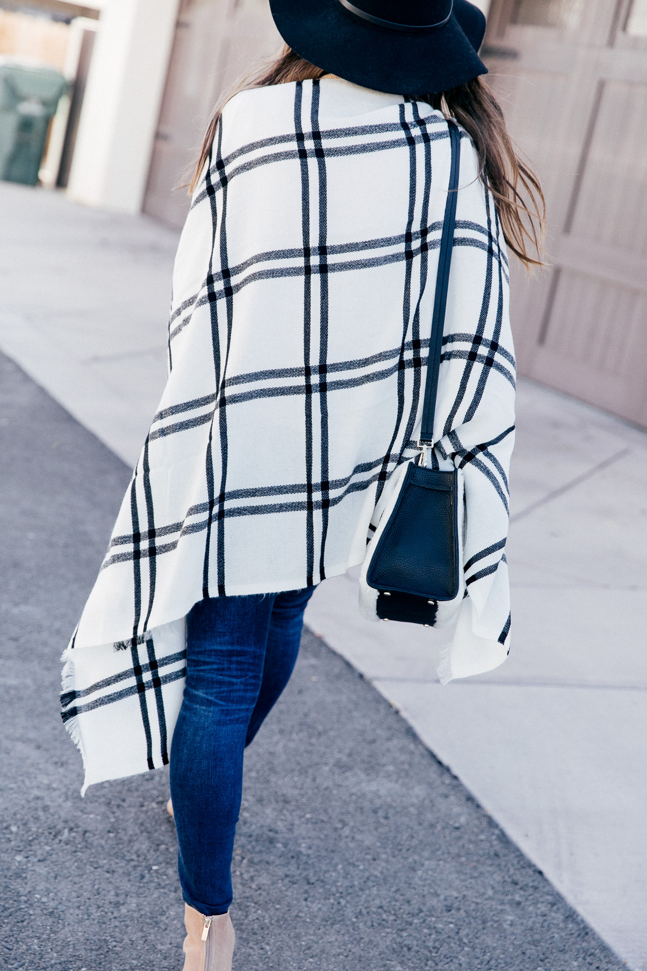 This plaid poncho is perfect for fall. | M Loves M @marmar