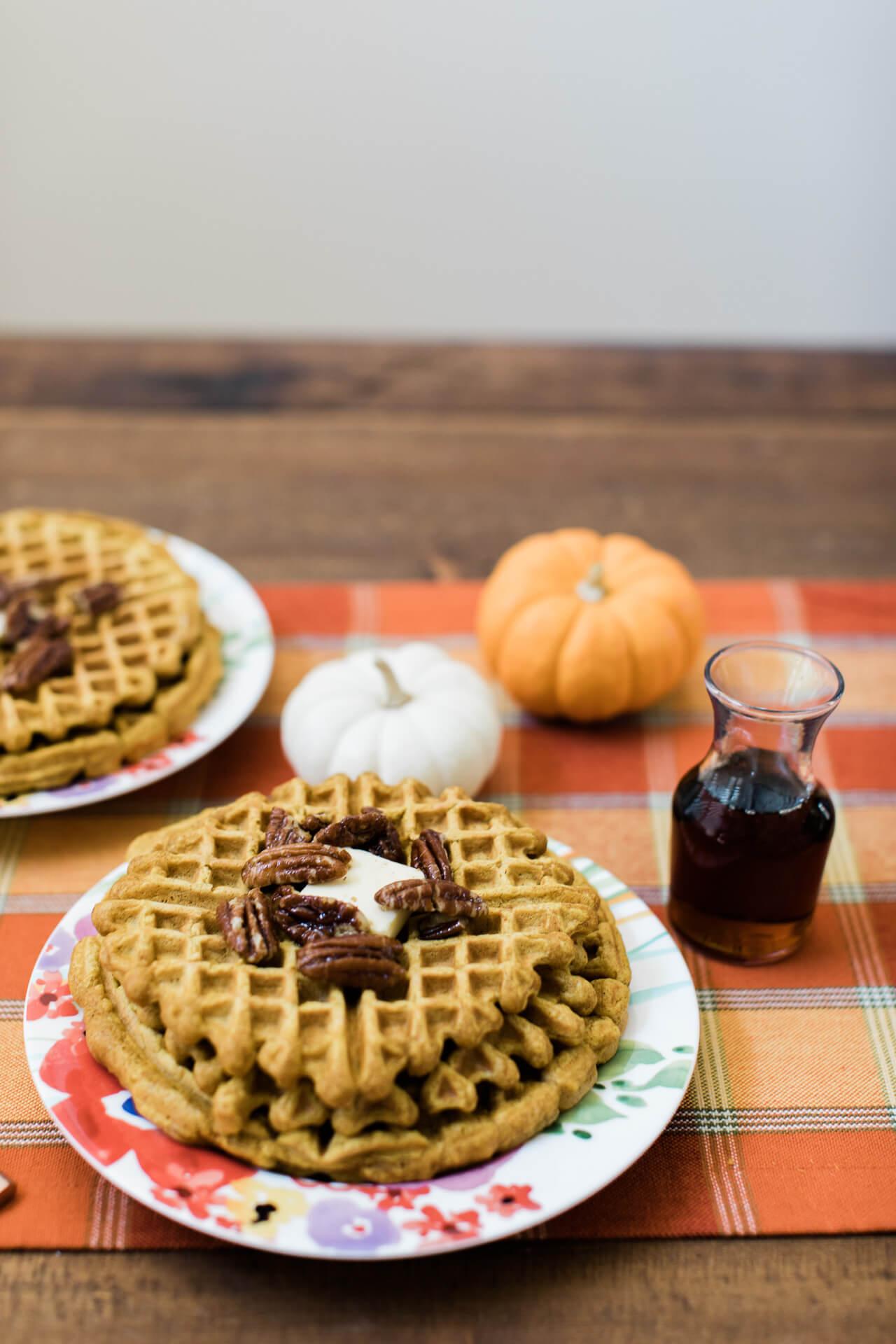 Pumpkin waffle recipe.   M Loves M @marmar