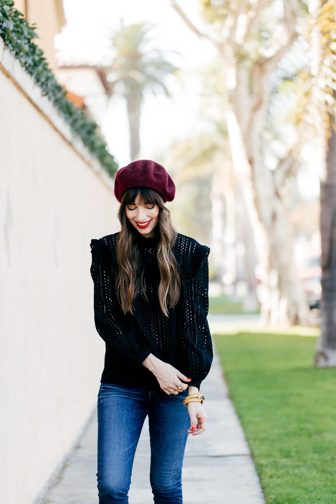 This burgundy beret is so cute for fall! | M Loves M @marmar