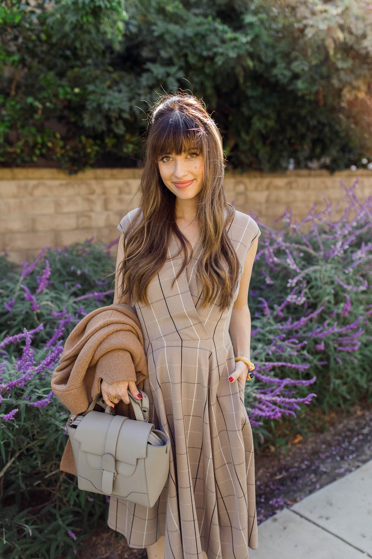 This camel plaid dress is so cute for fall! - M Loves M @marmar